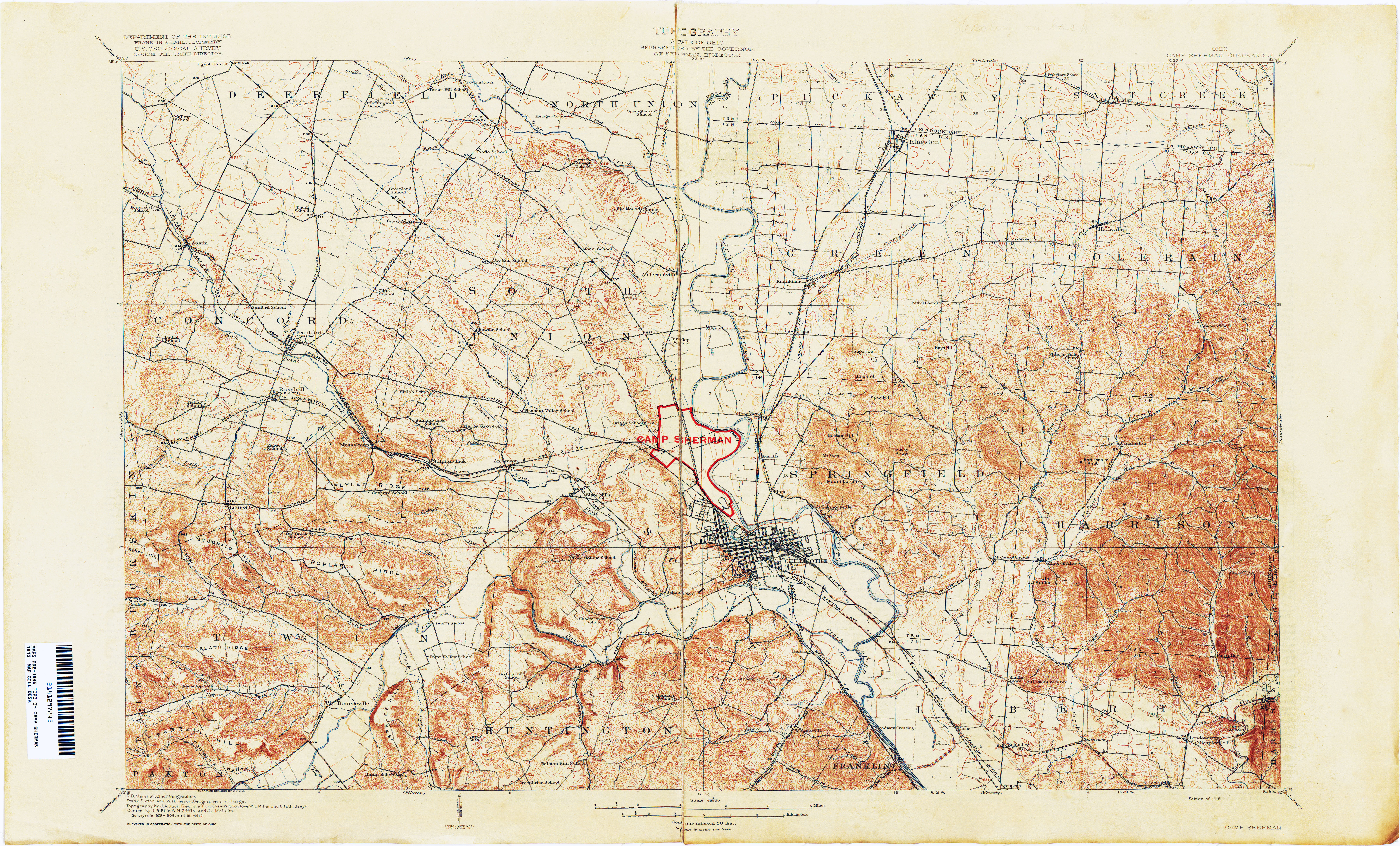 Ohio Historical Topographic Maps   Perry Castañeda Map Collection