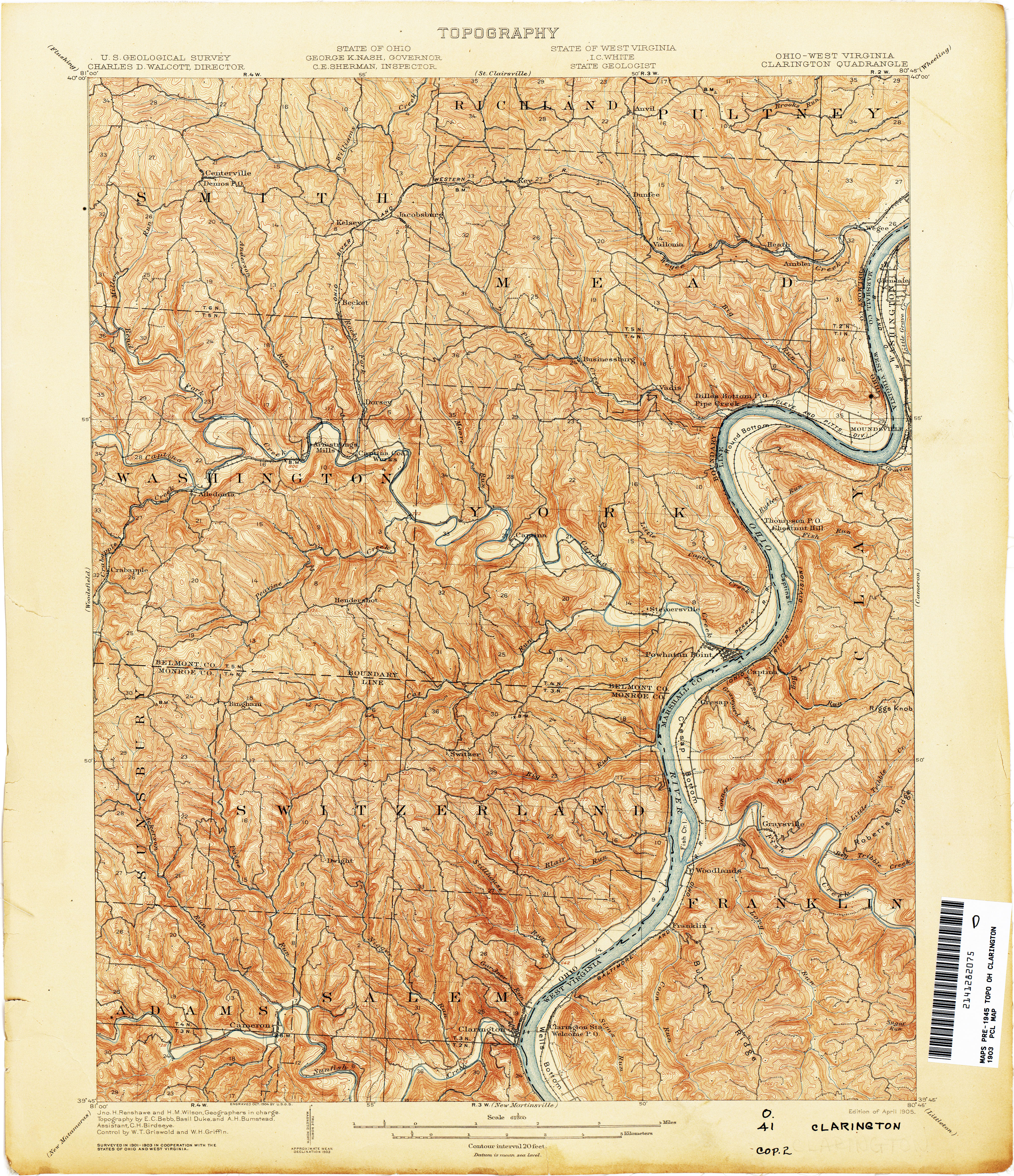 Woodsfield Ohio Map.Ohio Historical Topographic Maps Perry Castaneda Map Collection