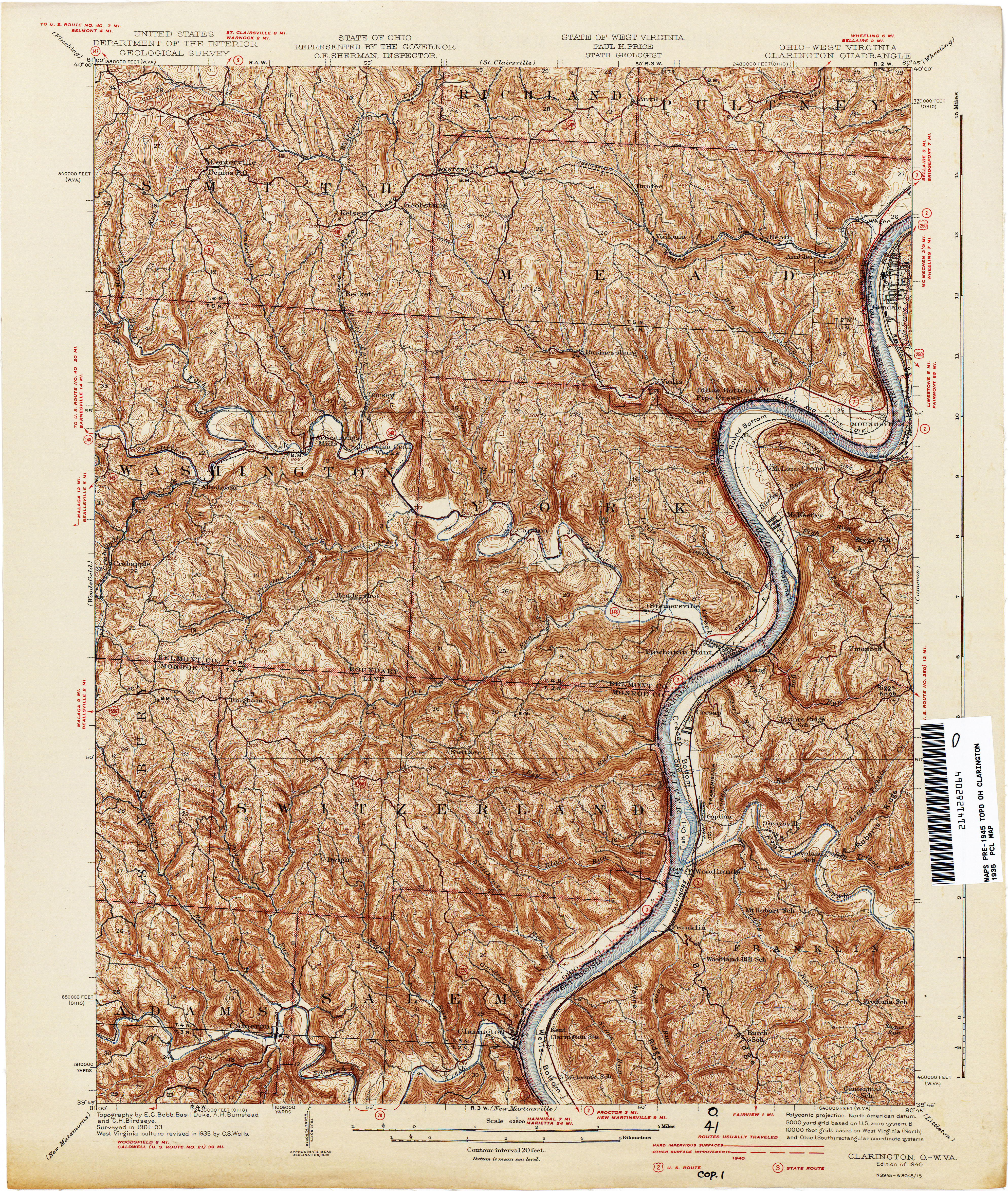West Virginia Historical Topographic Maps - Perry-Castañeda Map ...