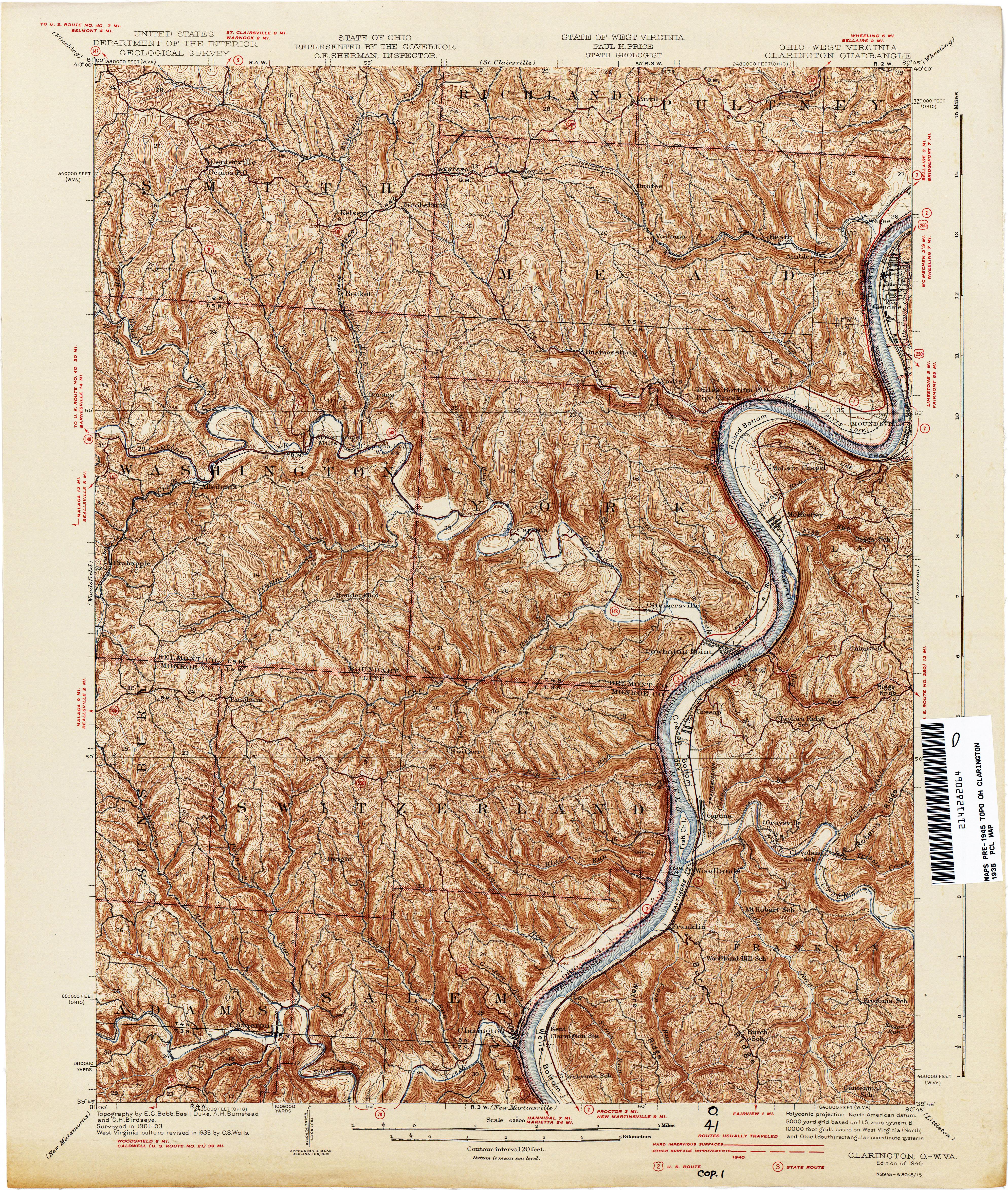Clarington Ohio West Virginia 1935 1 62 500 10 2mb