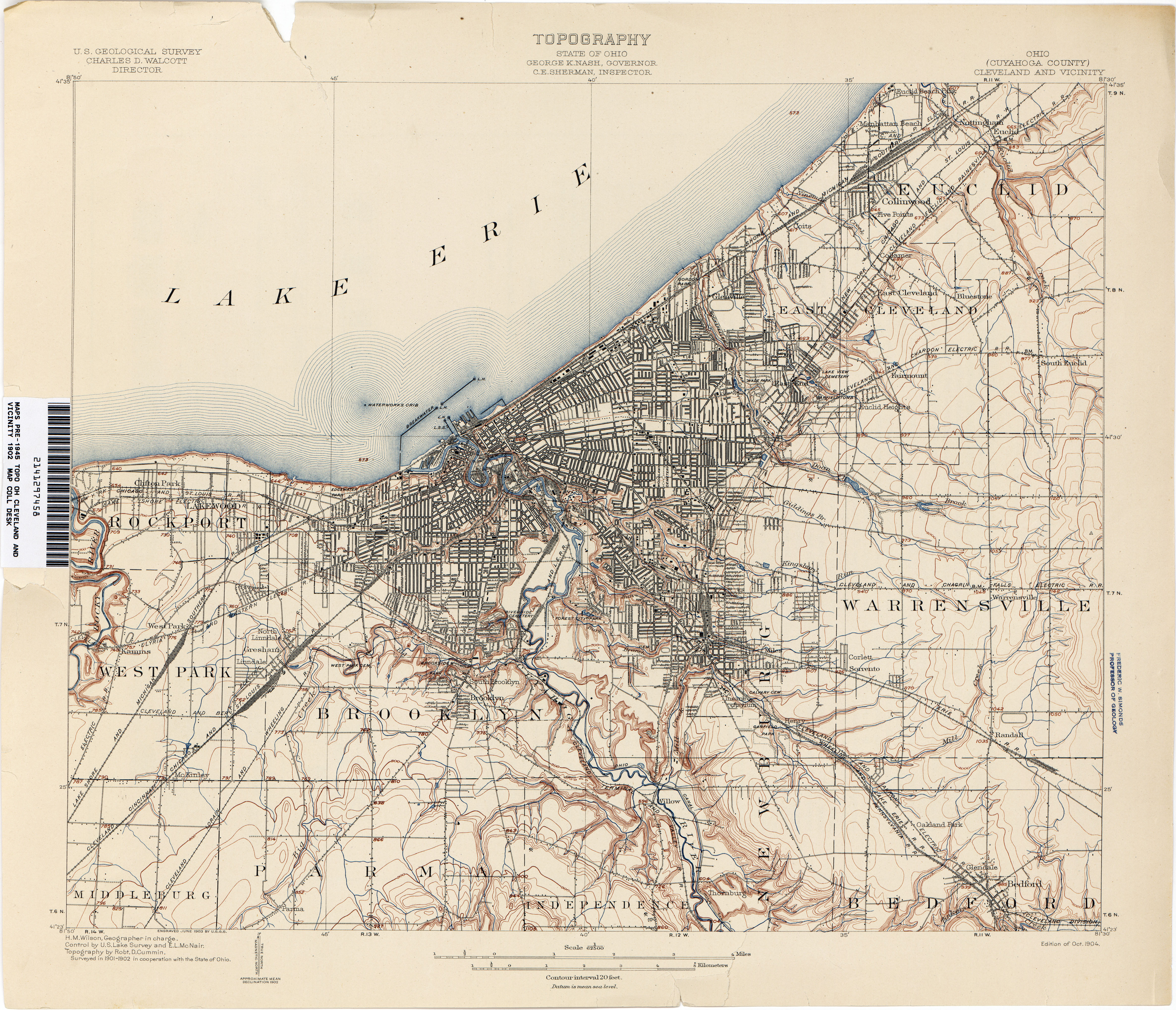 Ohio Historical Topographic Maps PerryCastañeda Map Collection - Cleveland ohio on us map