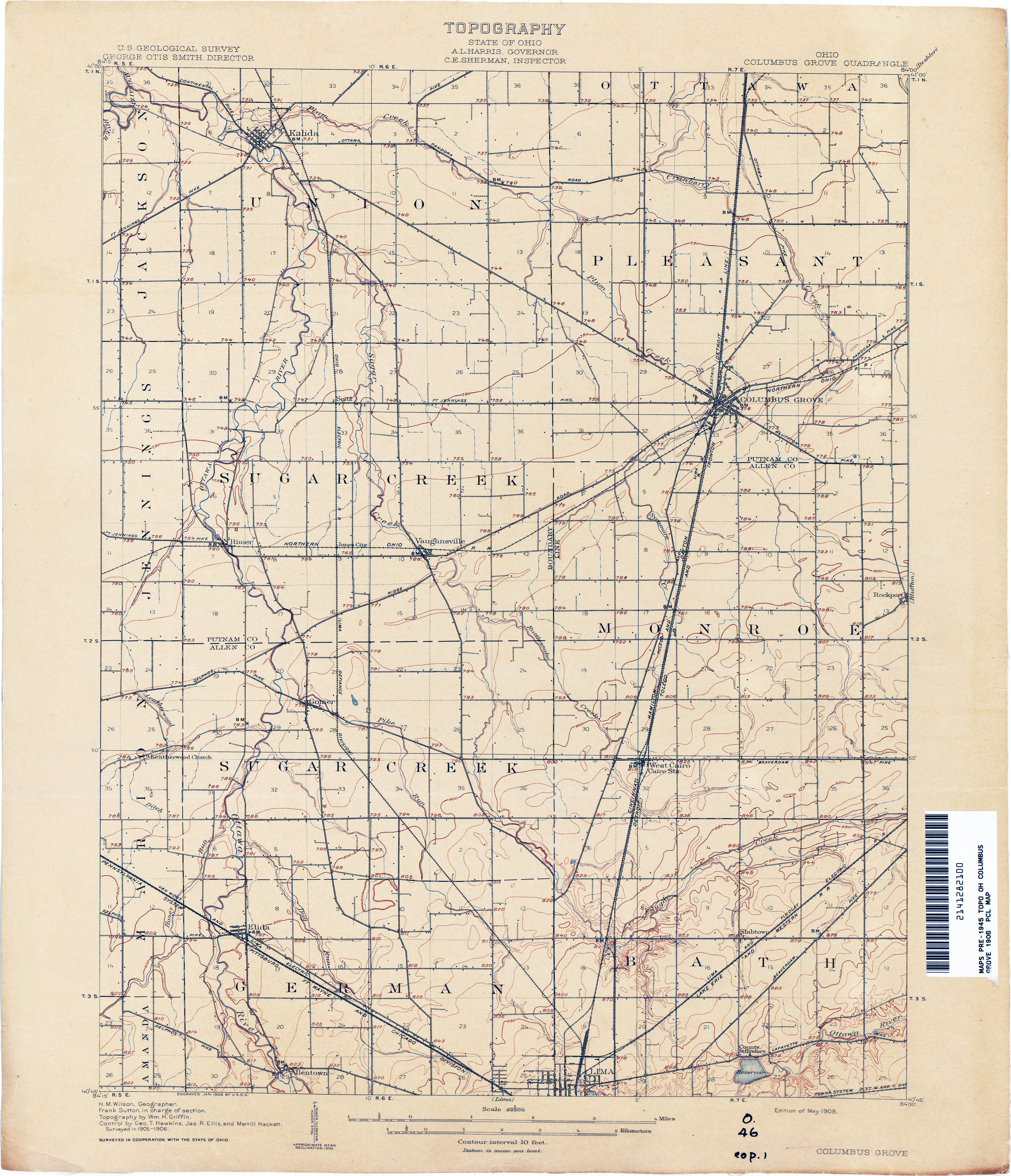 Ohio Historical Topographic Maps PerryCastañeda Map Collection - Us map ohio