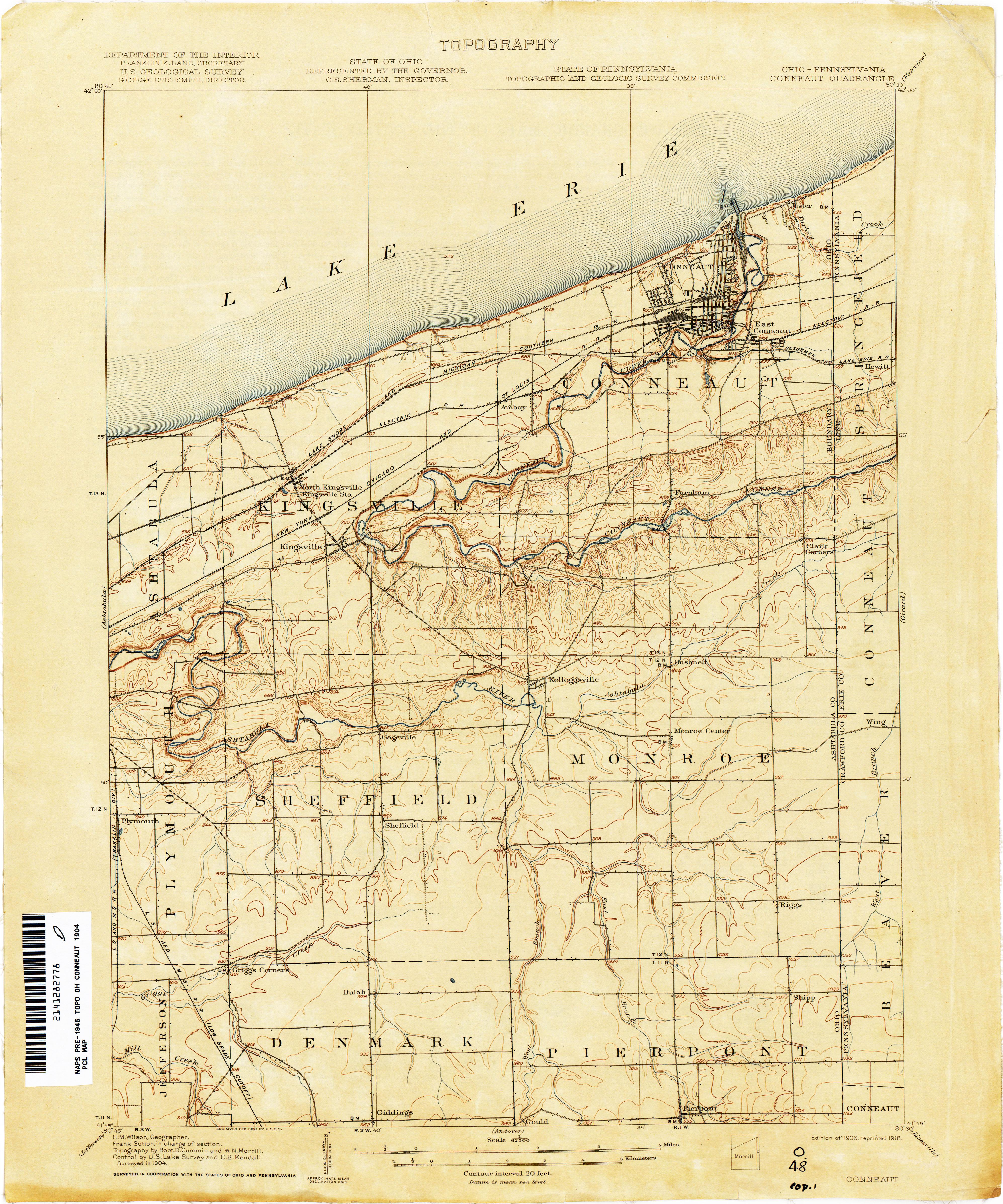 Pennsylvania And Ohio Map.Pennsylvania Historical Topographic Maps Perry Castaneda Map