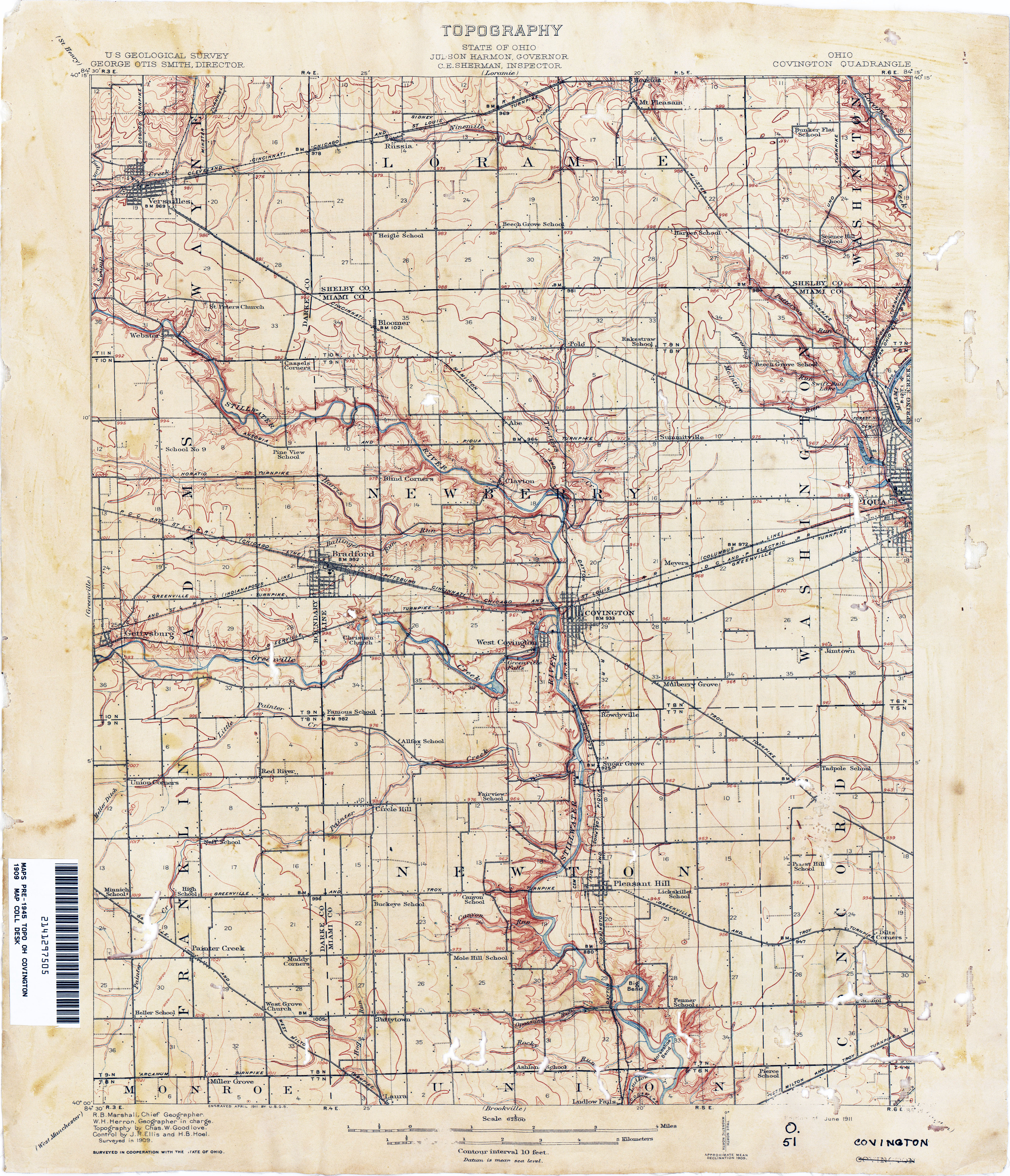 Manchester Ohio Map.Ohio Historical Topographic Maps Perry Castaneda Map Collection