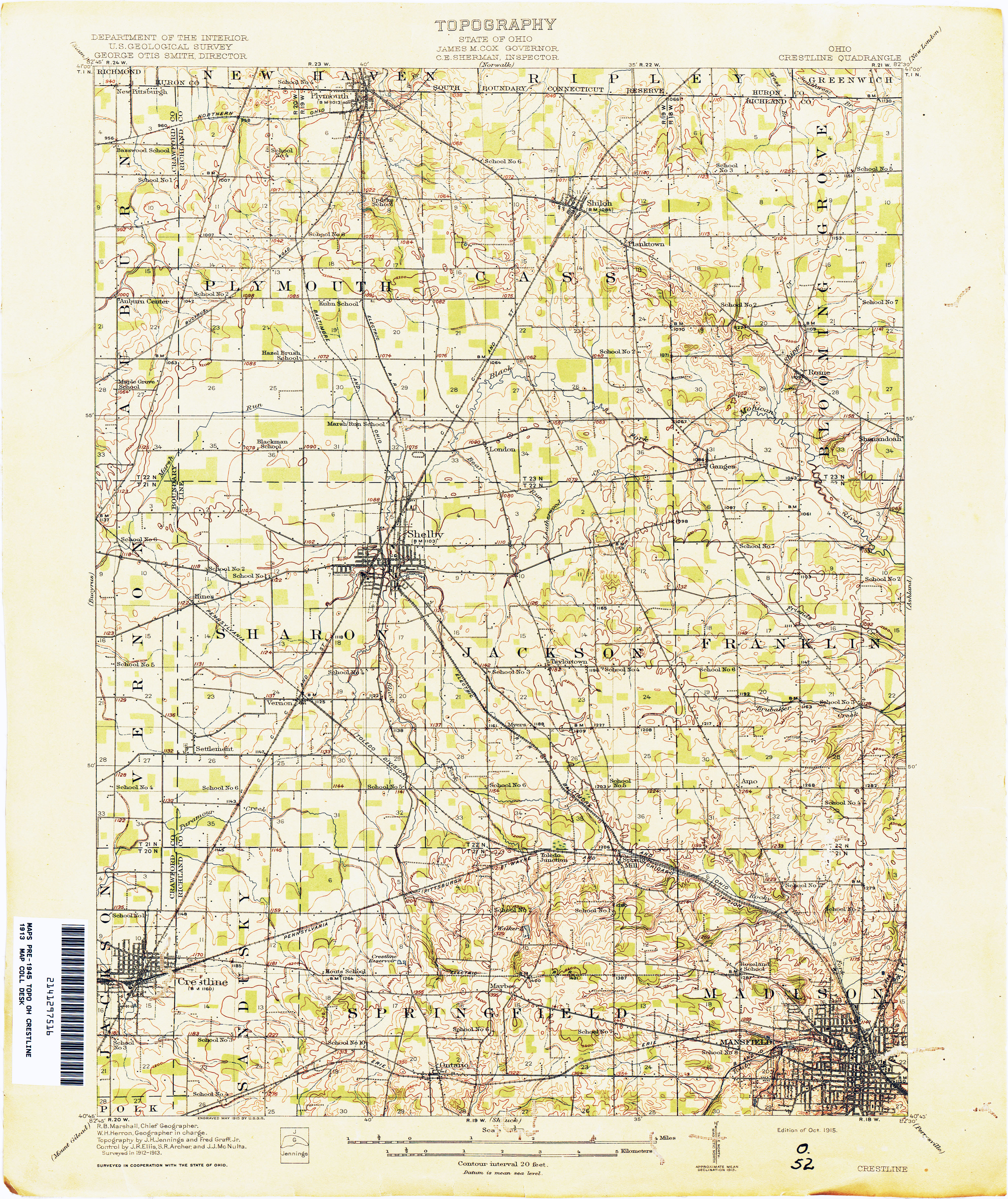 New London Ohio Map.Ohio Historical Topographic Maps Perry Castaneda Map Collection