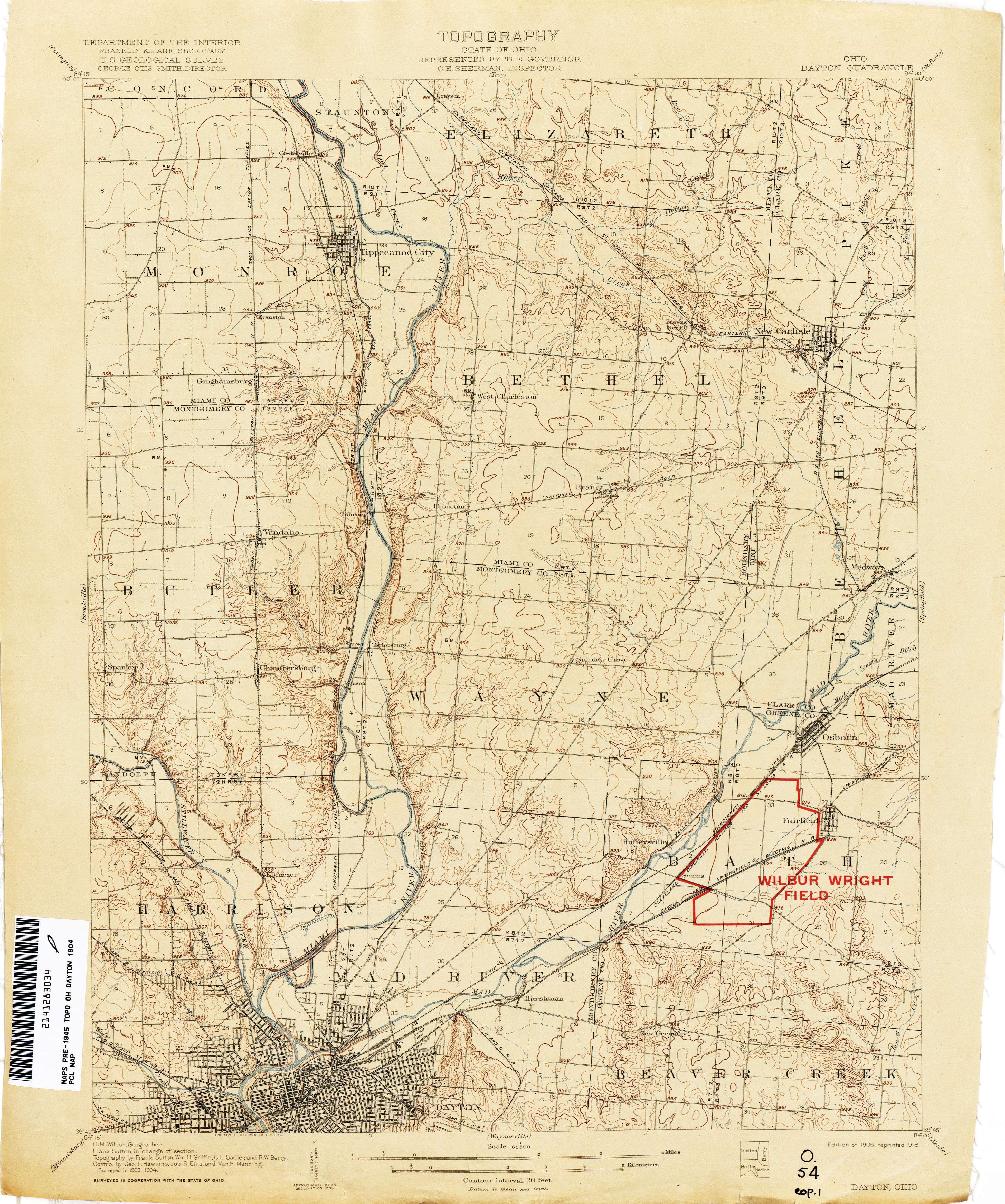 Topography Map Of Ohio.Ohio Historical Topographic Maps Perry Castaneda Map Collection