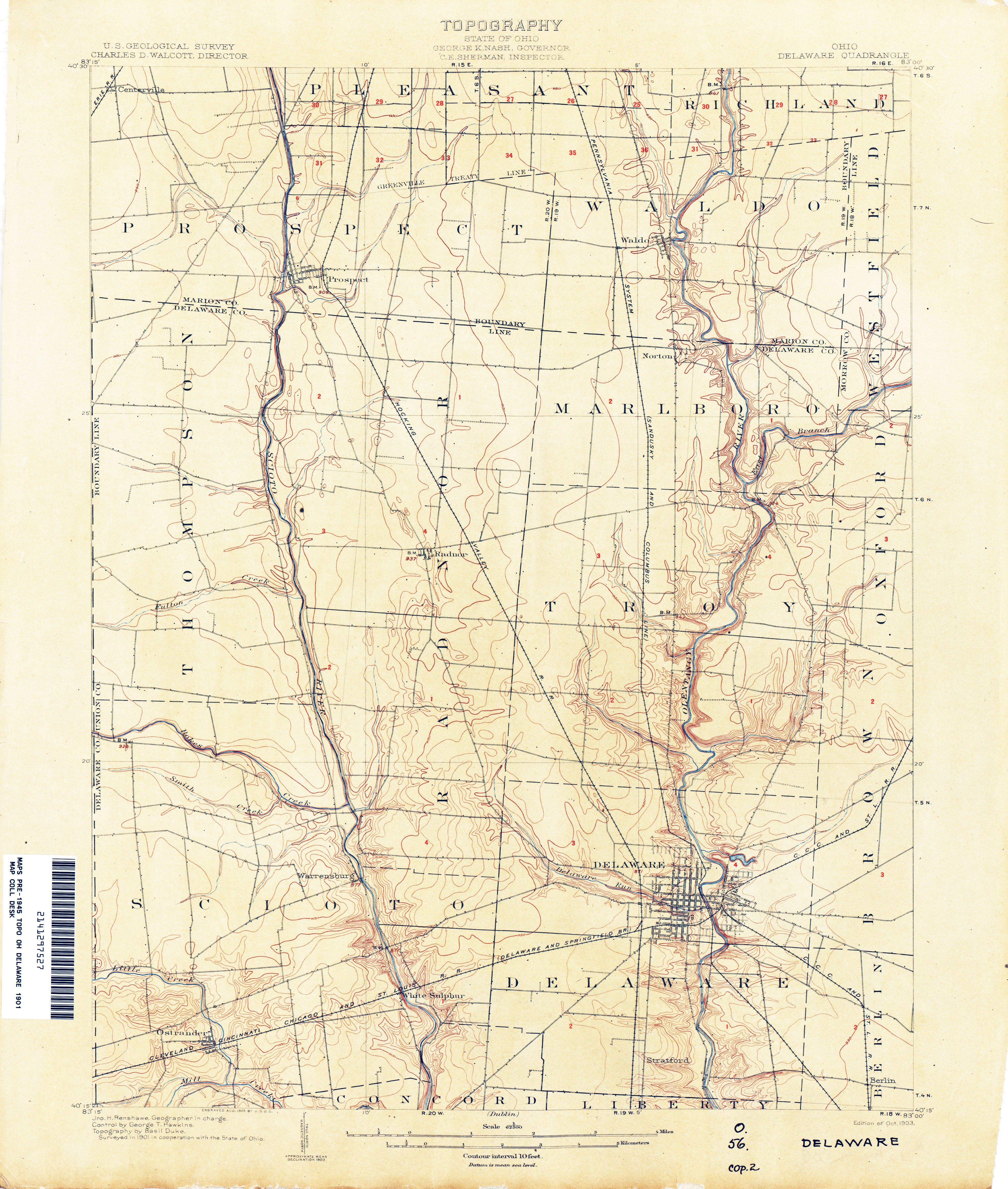Genoa Ohio Map.Ohio Historical Topographic Maps Perry Castaneda Map Collection