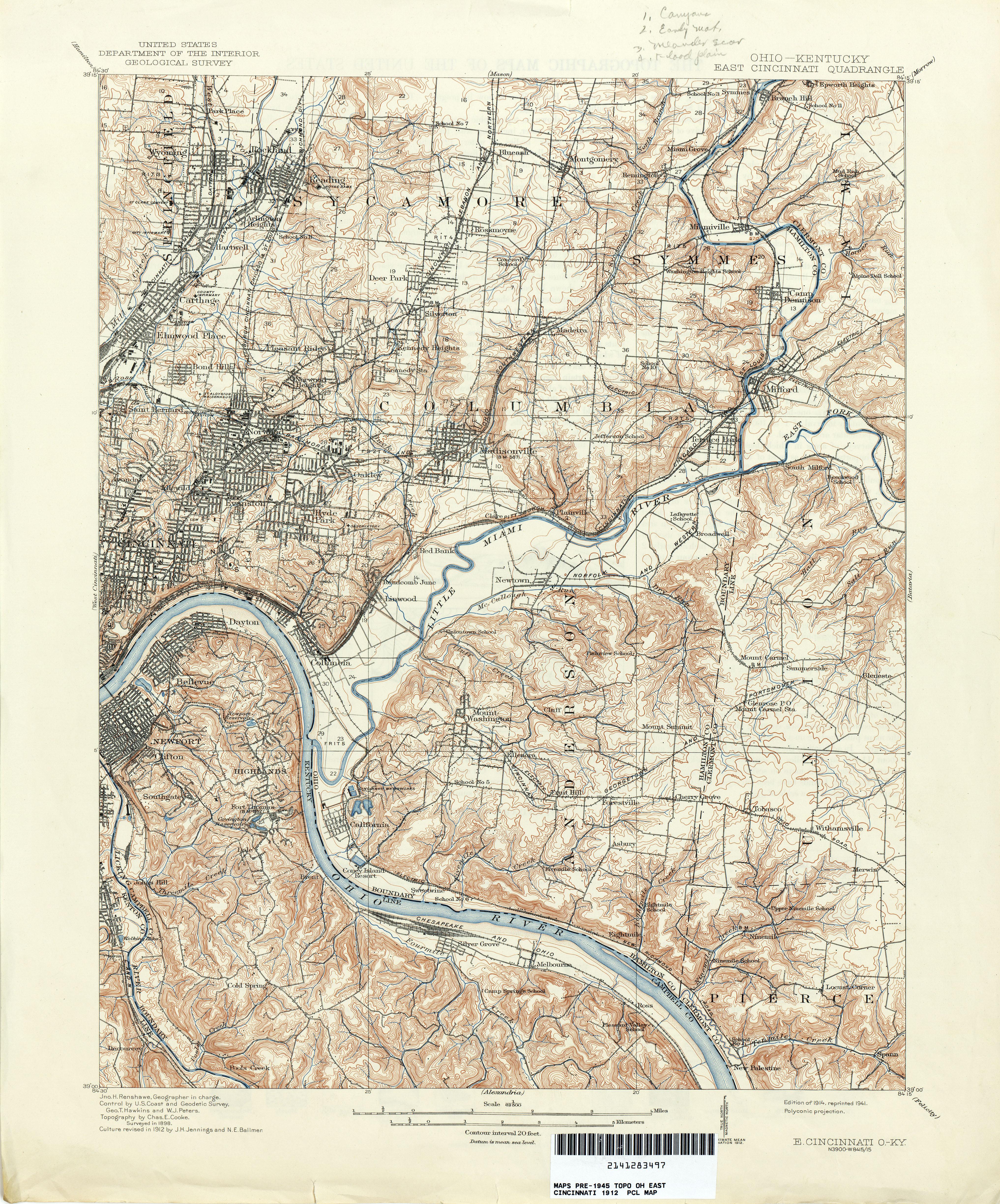 Ohio Historical Topographic Maps PerryCastaeda Map Collection