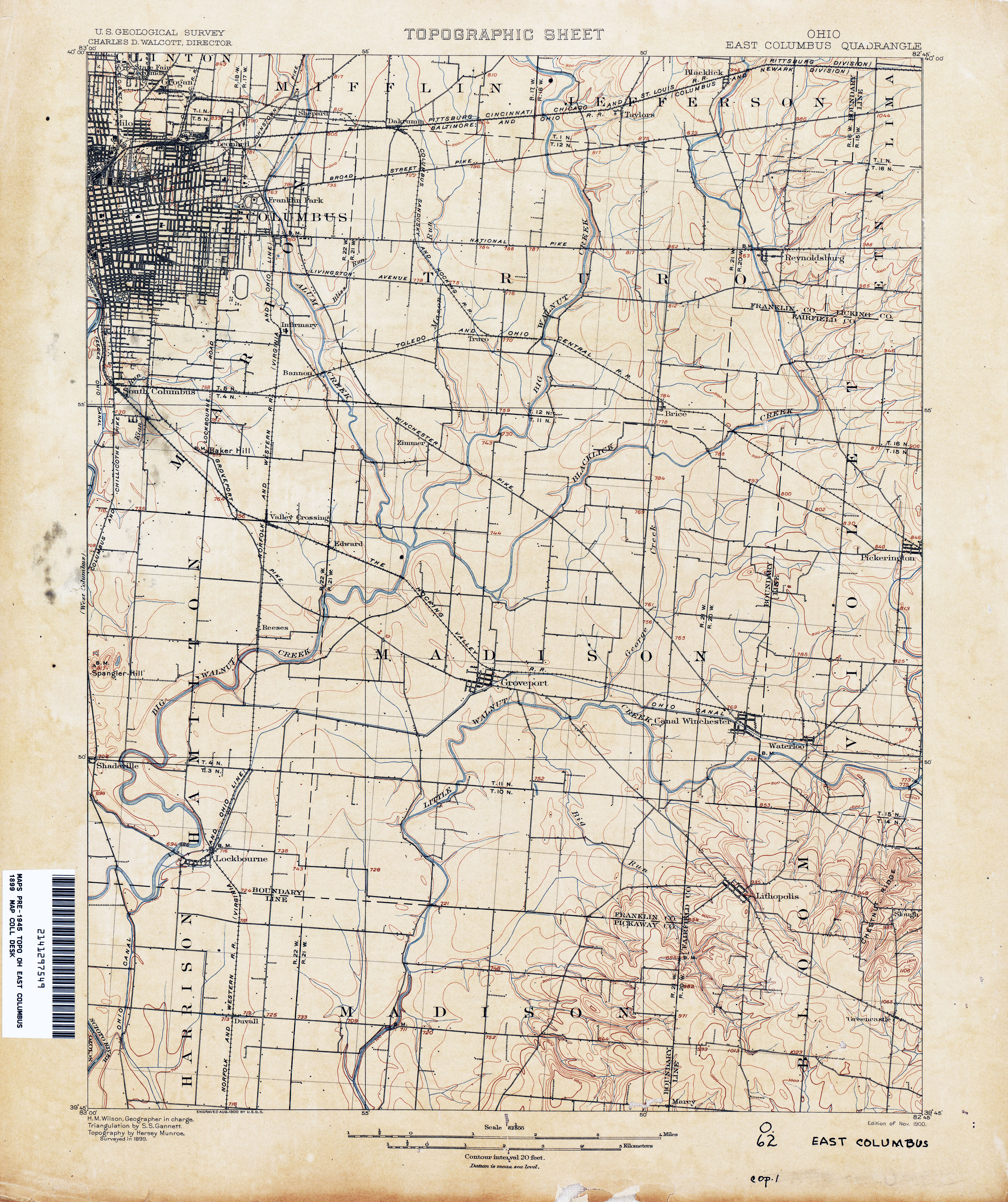 Ohio Historical Topographic Maps PerryCastañeda Map Collection - Columbus maps