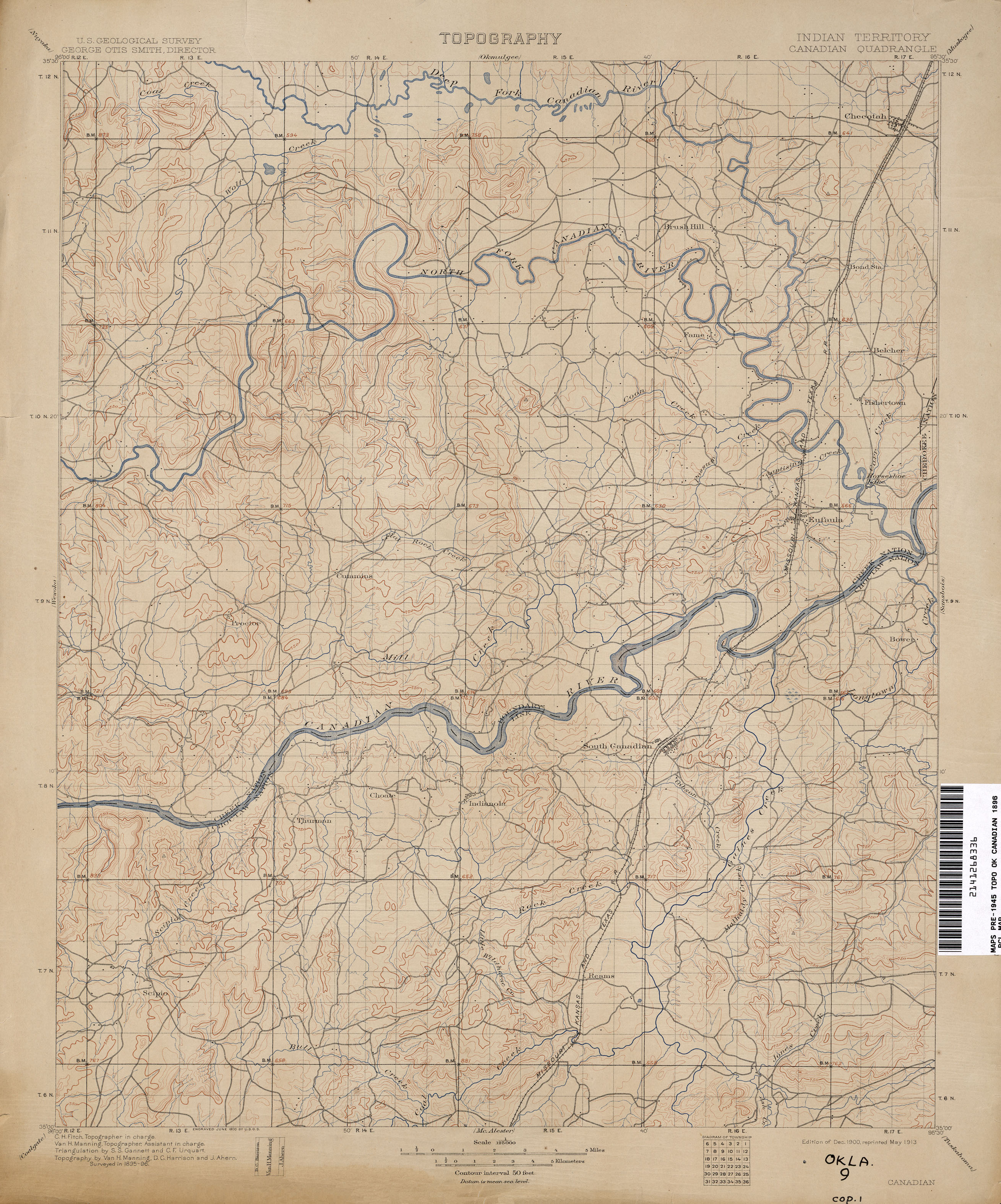 Oklahoma Historical Topographic Maps - Perry-Castañeda Map ...