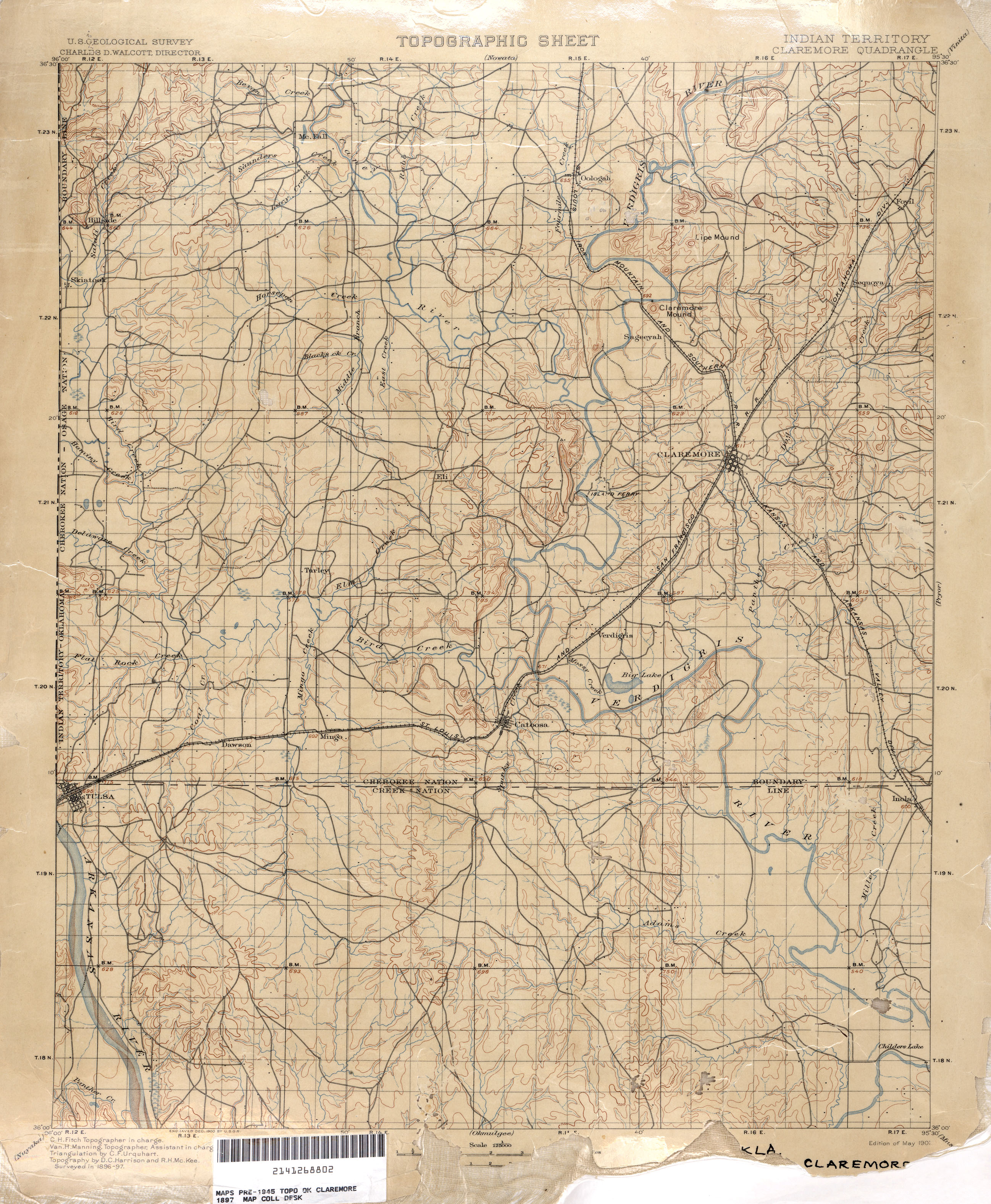 The Old Paths Historic Oklahoma USGS Maps BatesLine - Us topographic road map