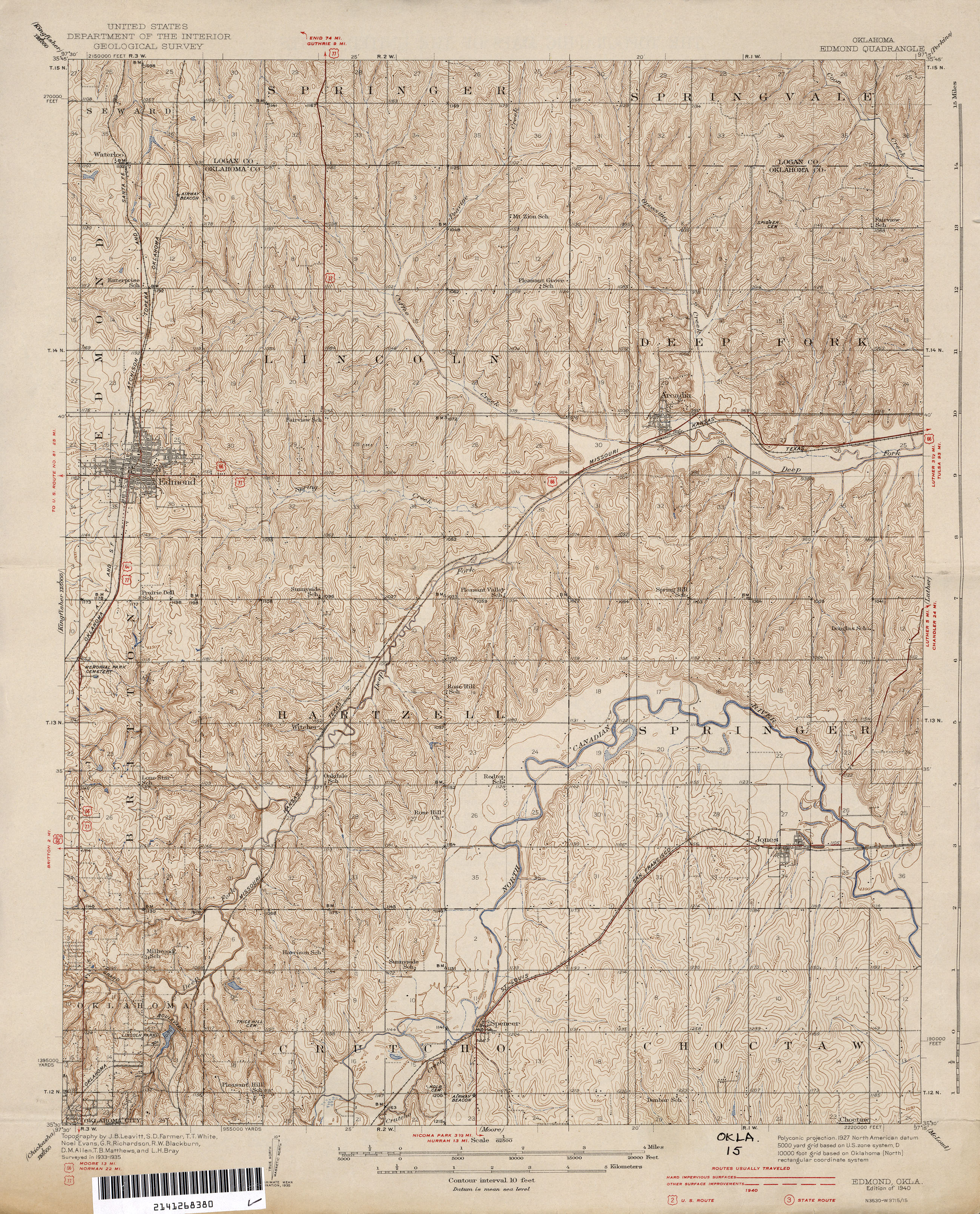 Leflore County Oklahoma Map.Oklahoma Historical Topographic Maps Perry Castaneda Map