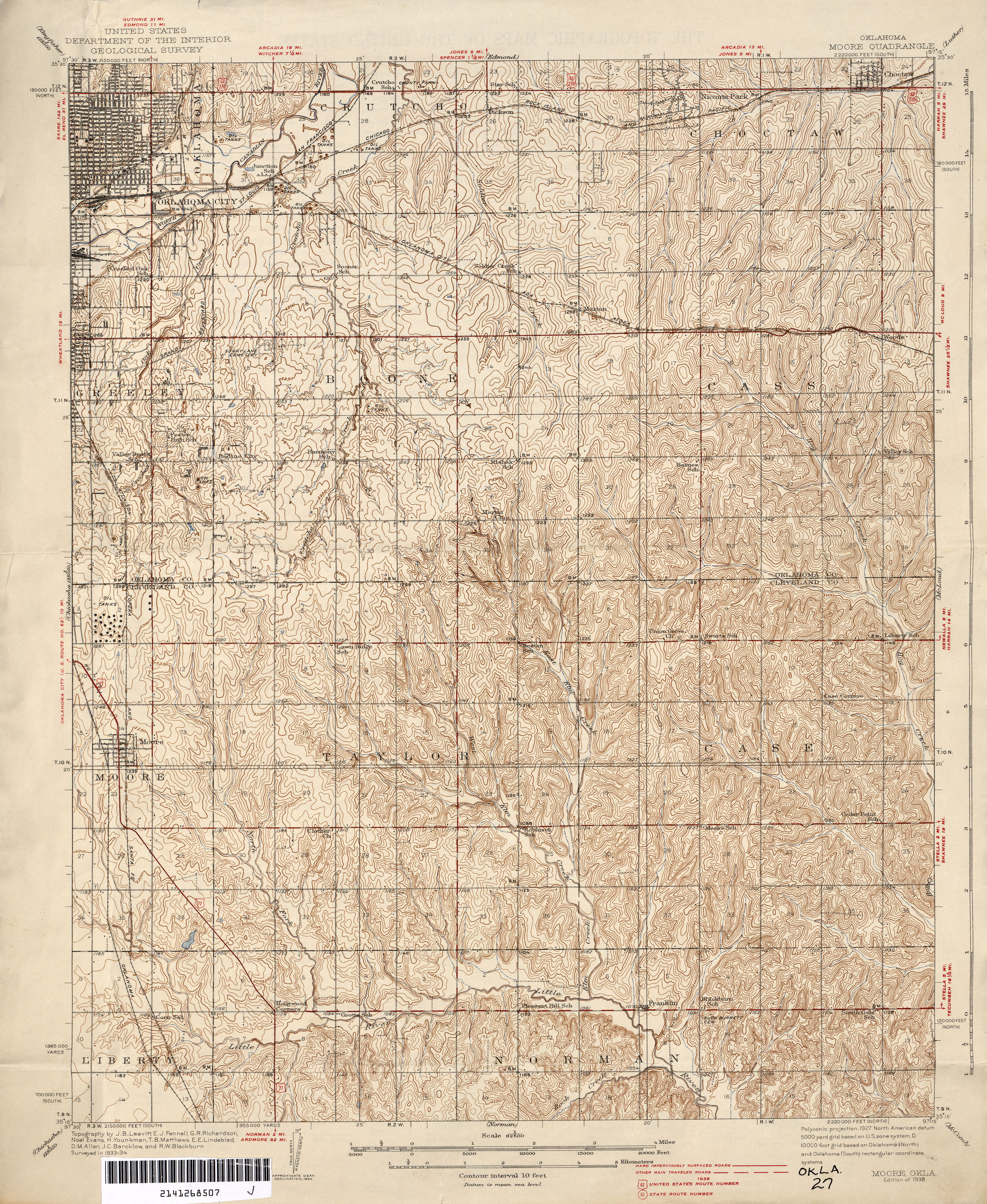 Oklahoma Historical Topographic Maps PerryCastañeda Map - Us geological topographic maps