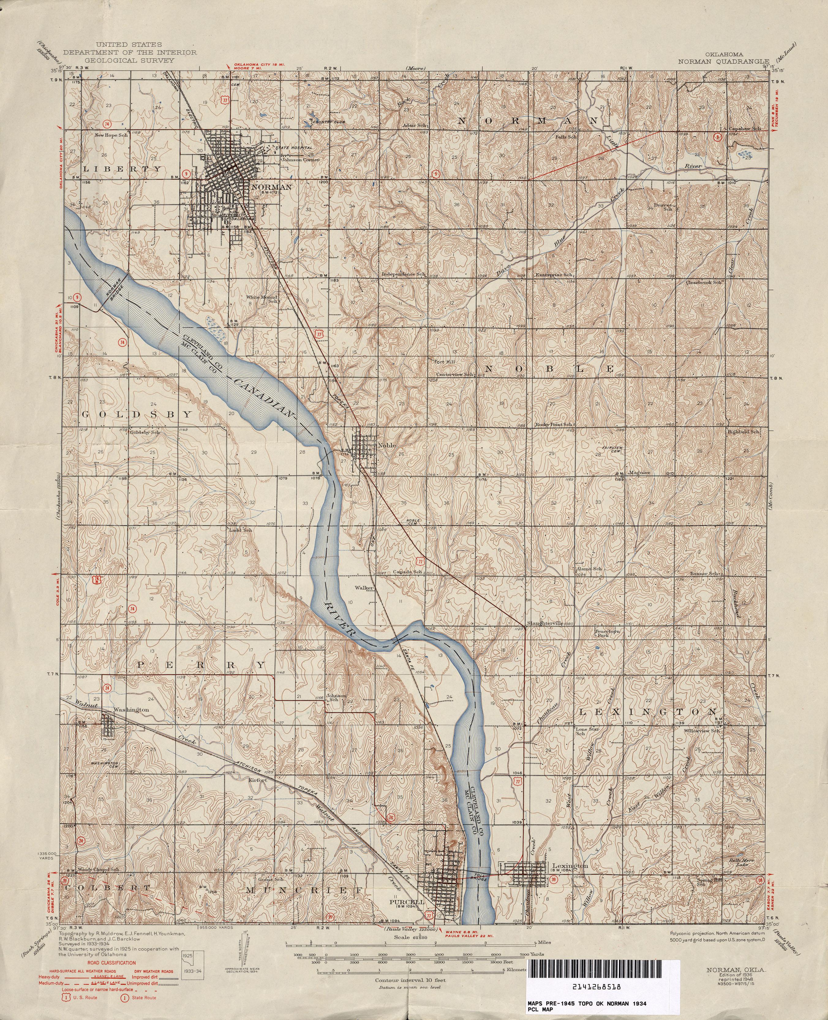 Topographic Map Oklahoma.Oklahoma Historical Topographic Maps Perry Castaneda Map