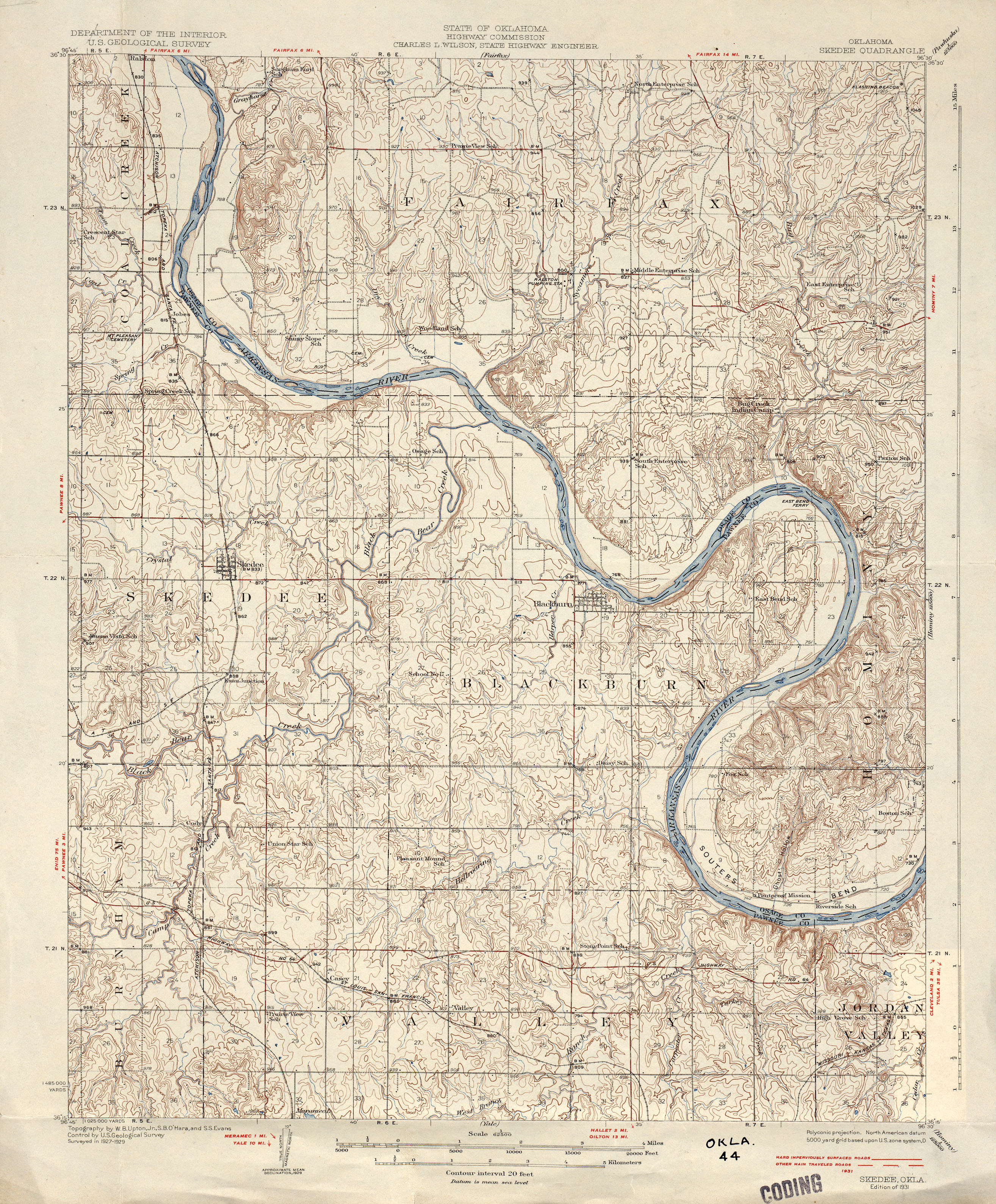 Oklahoma Historical Topographic Maps PerryCastañeda Map - Map of the state of oklahoma