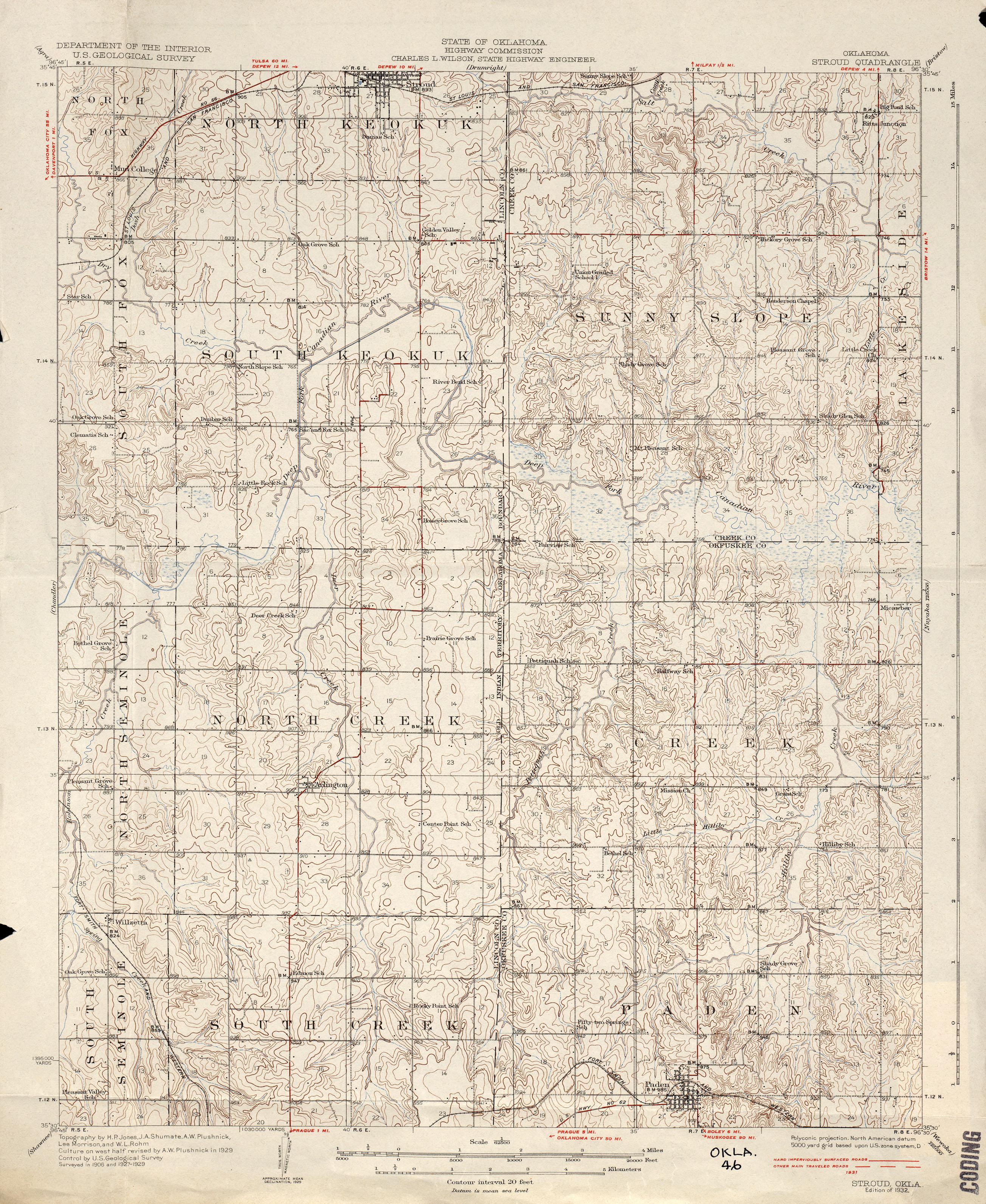 Oklahoma Historical Topographic Maps PerryCastaeda Map