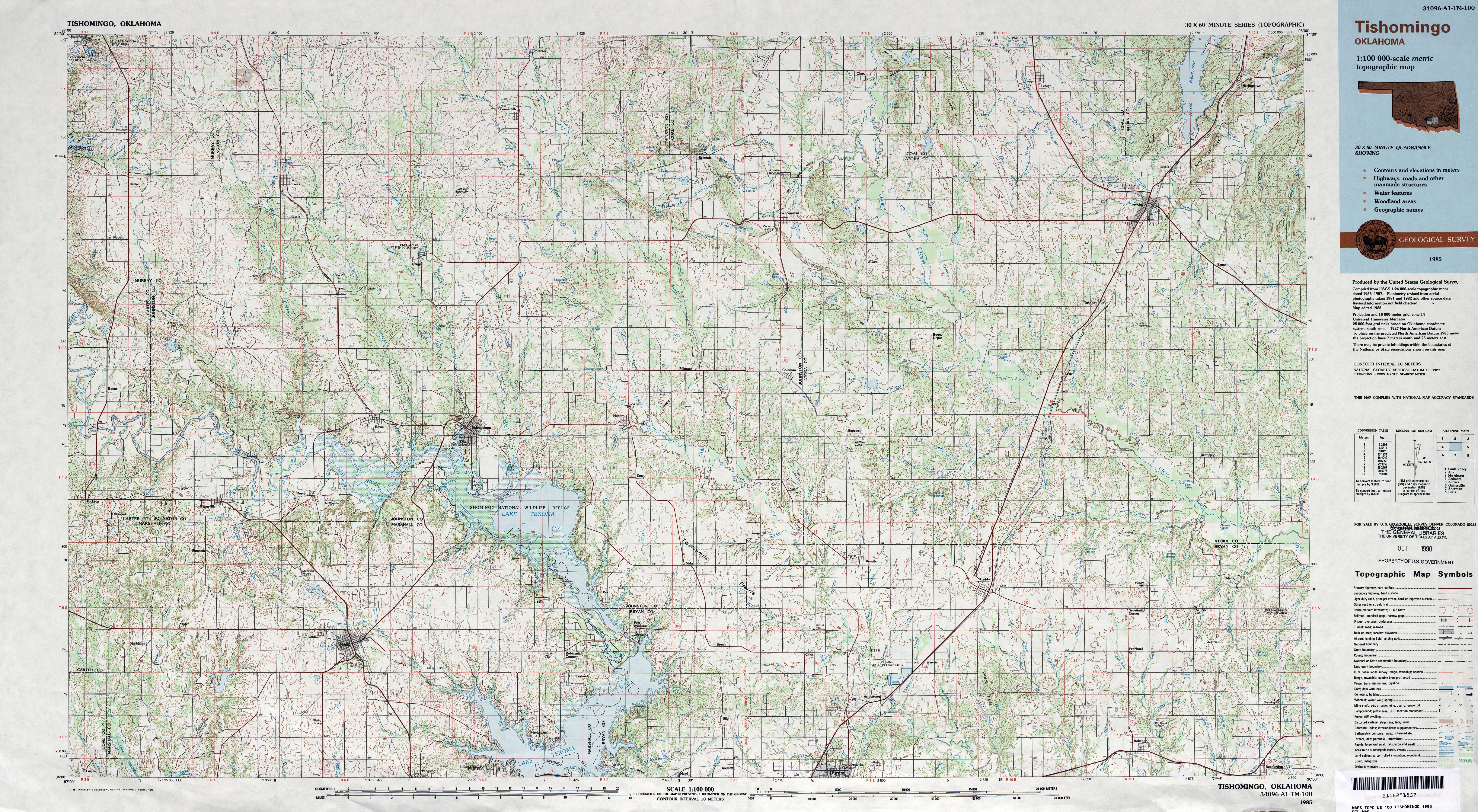 Oklahoma Historical Topographic Maps PerryCastañeda Map - Oklahoma in us map