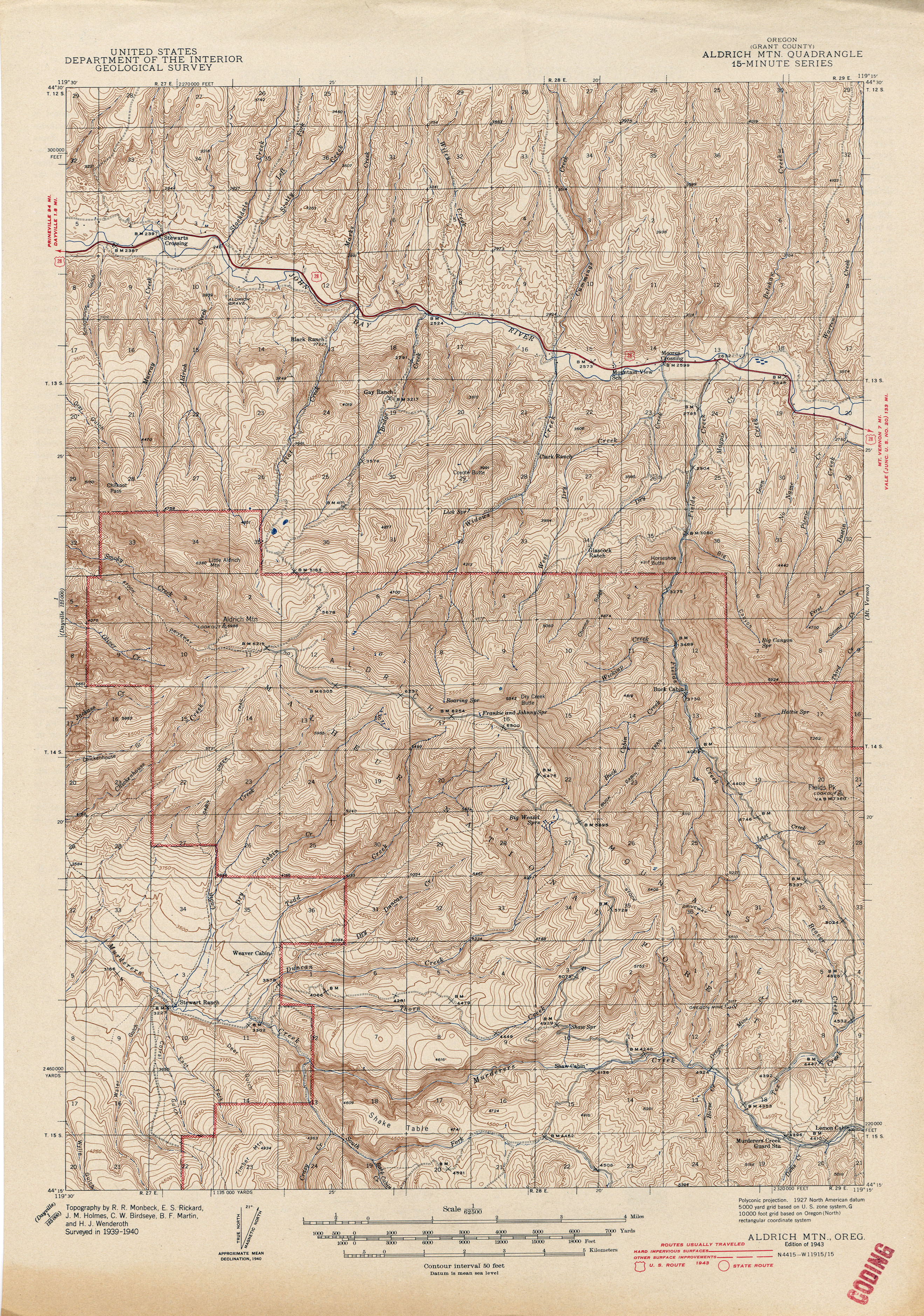 Oregon Historical Topographic Maps Perry Castaneda Map