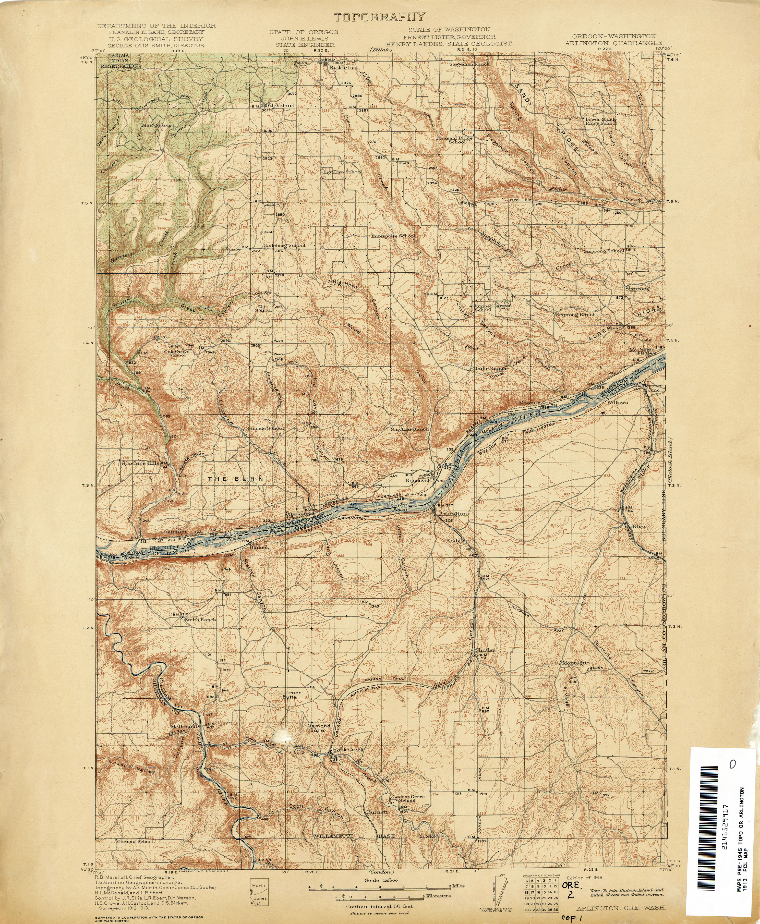 Oregon Historical Topographic Maps PerryCastañeda Map Collection - Topo map of washington state