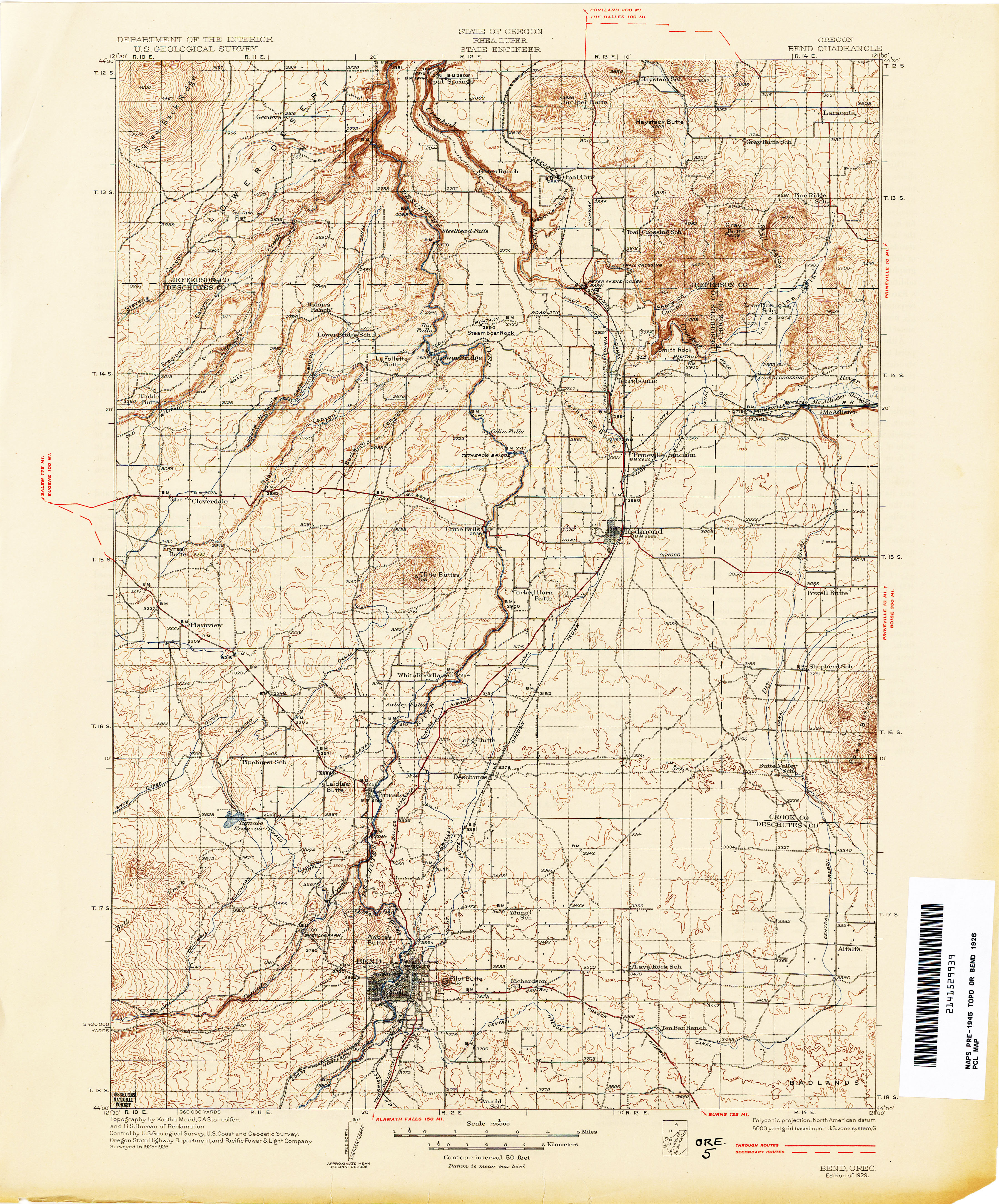 Lowell Oregon Map.Oregon Historical Topographic Maps Perry Castaneda Map Collection