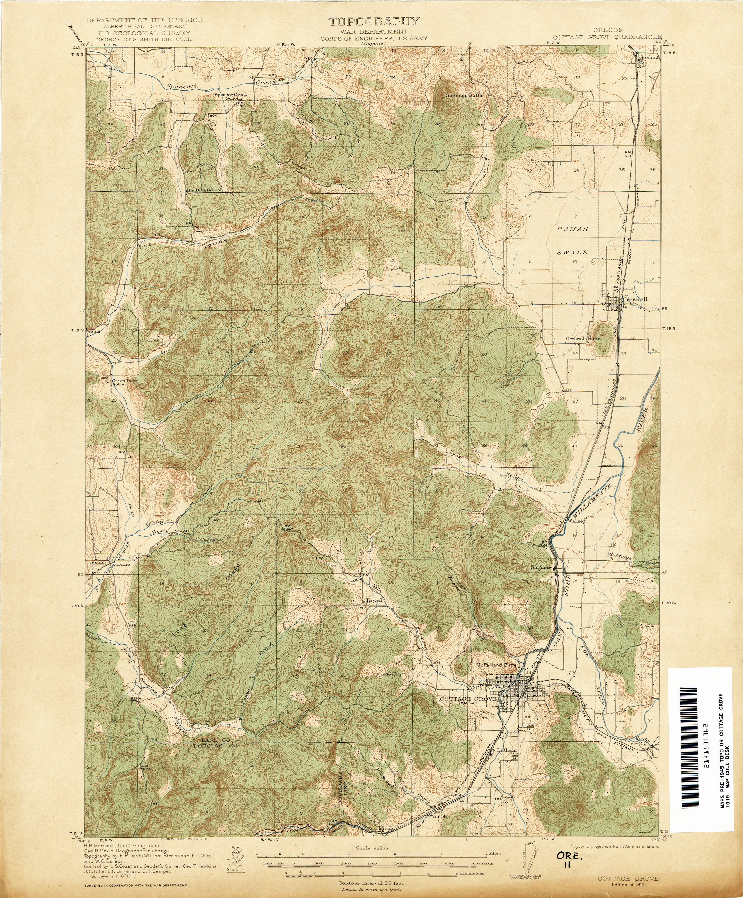 Oregon Historical Topographic Maps PerryCastaeda Map Collection