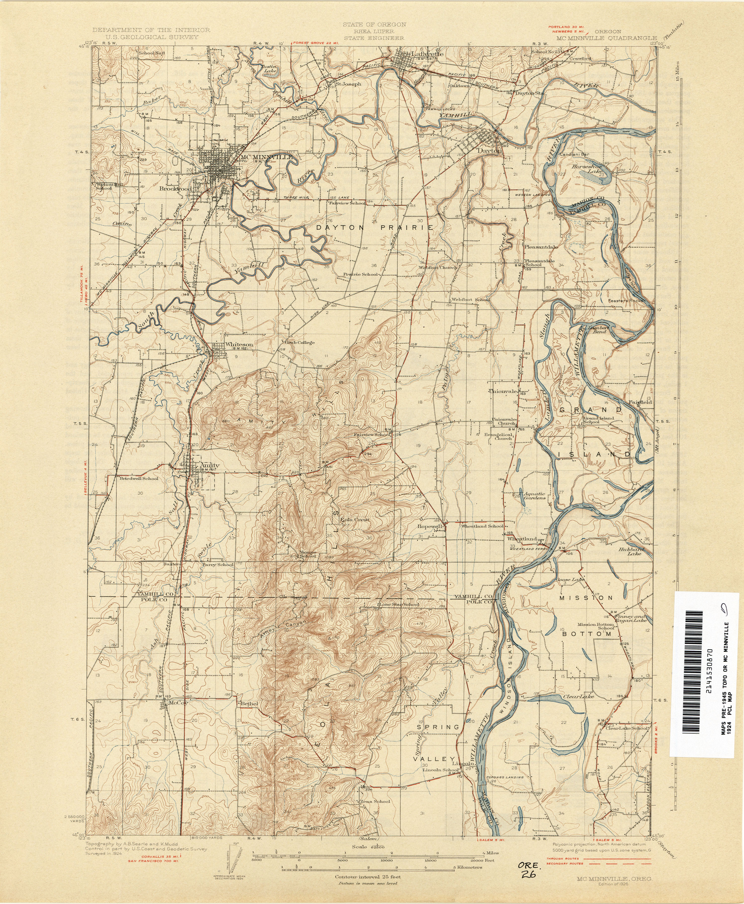 Old Oregon Maps Oregon Historical Topographic Maps   Perry Castañeda Map