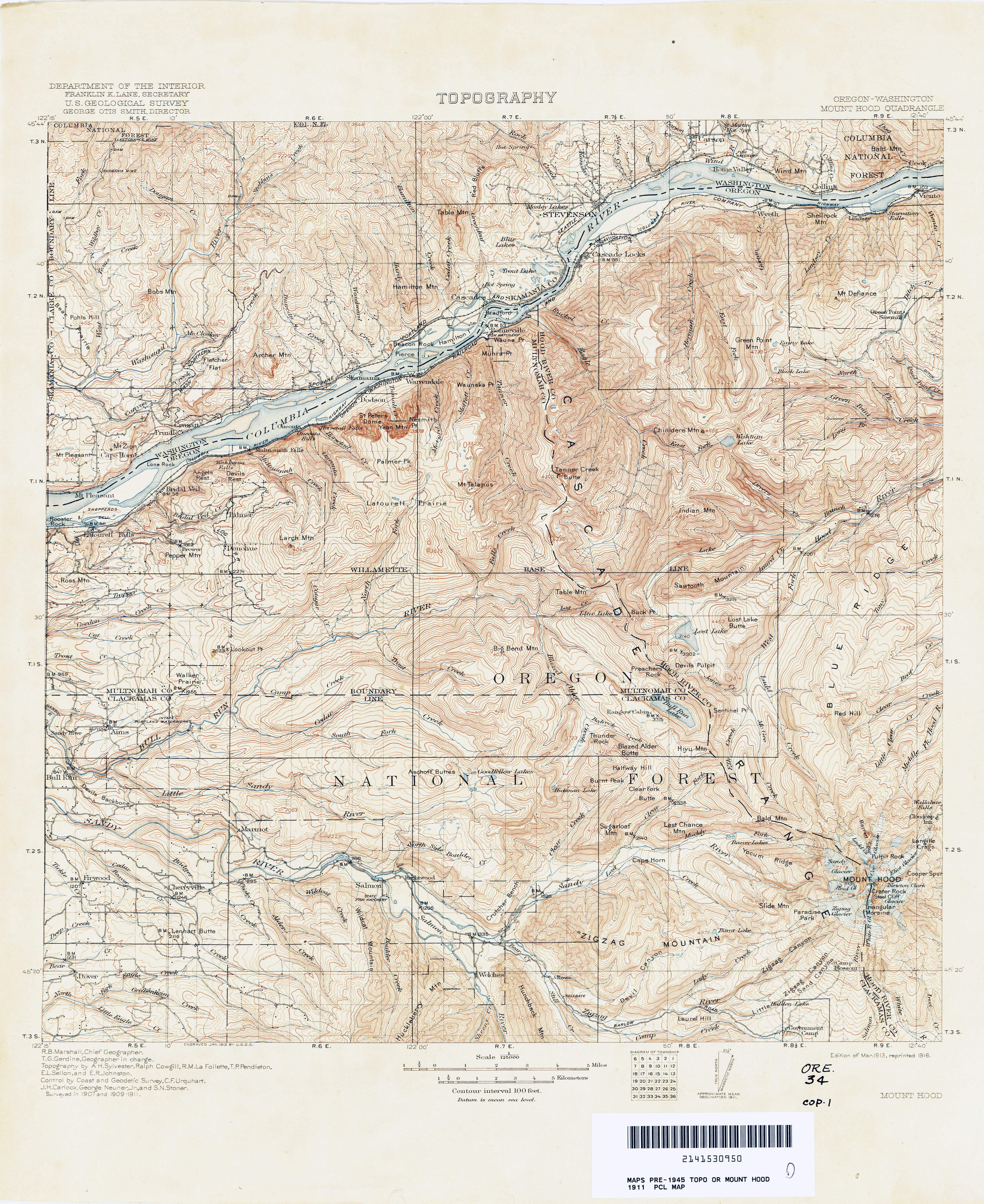 Oregon Historical Topographic Maps Perry Castaneda Map Collection