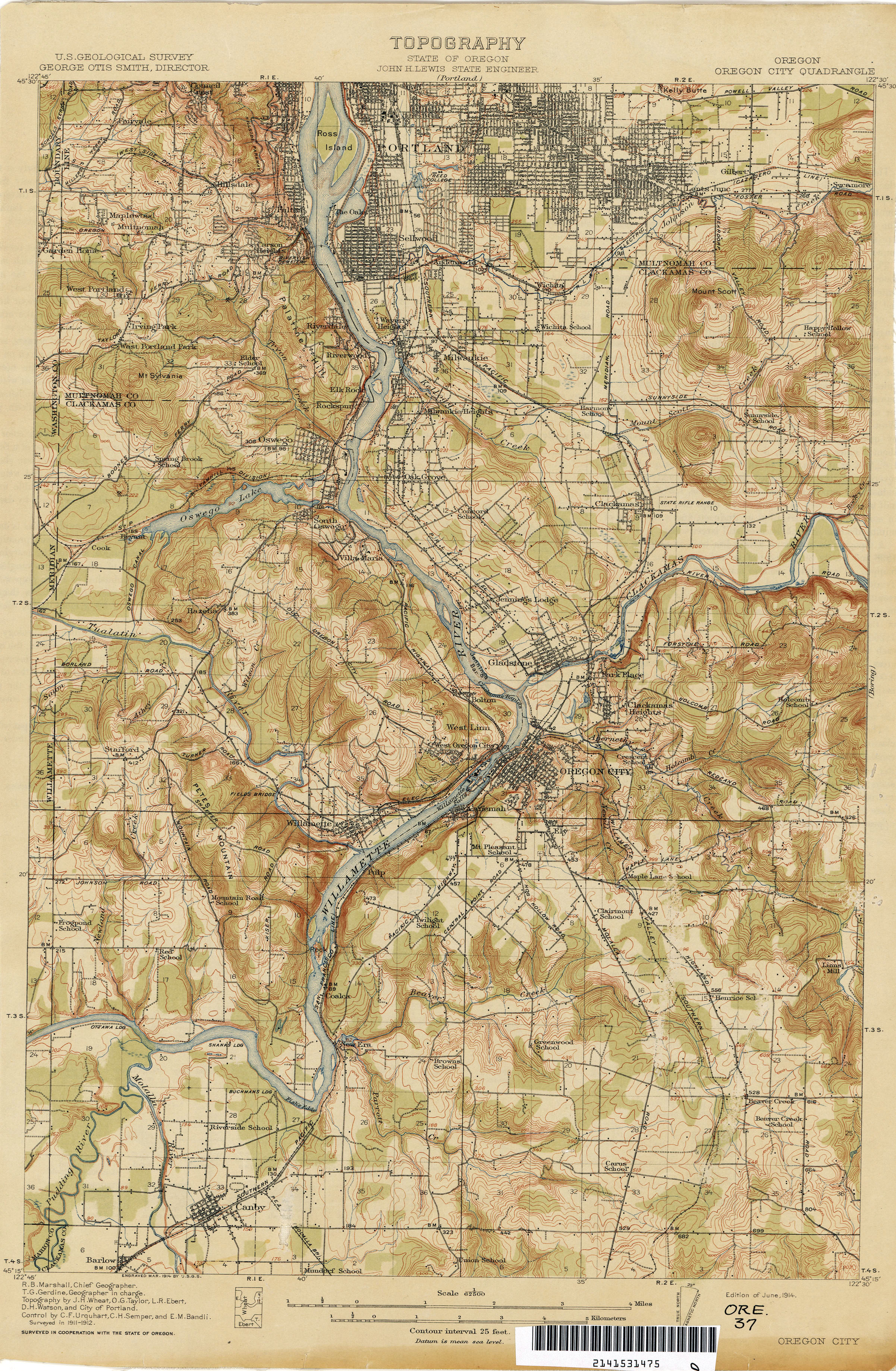Oregon Historical Topographic Maps PerryCastañeda Map - State map of oregon