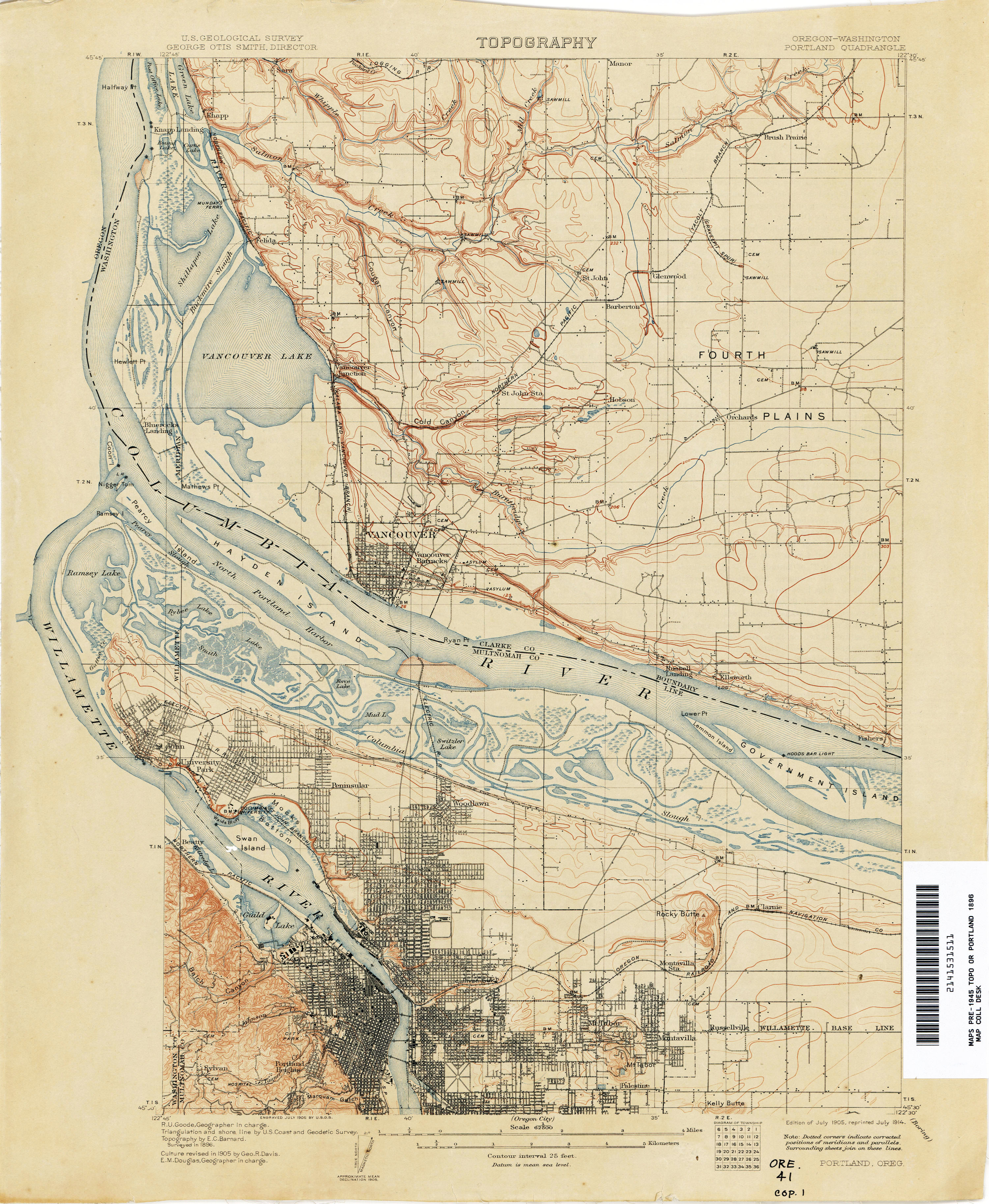 Oregon Historical Topographic Maps PerryCastañeda Map - Portland on us map