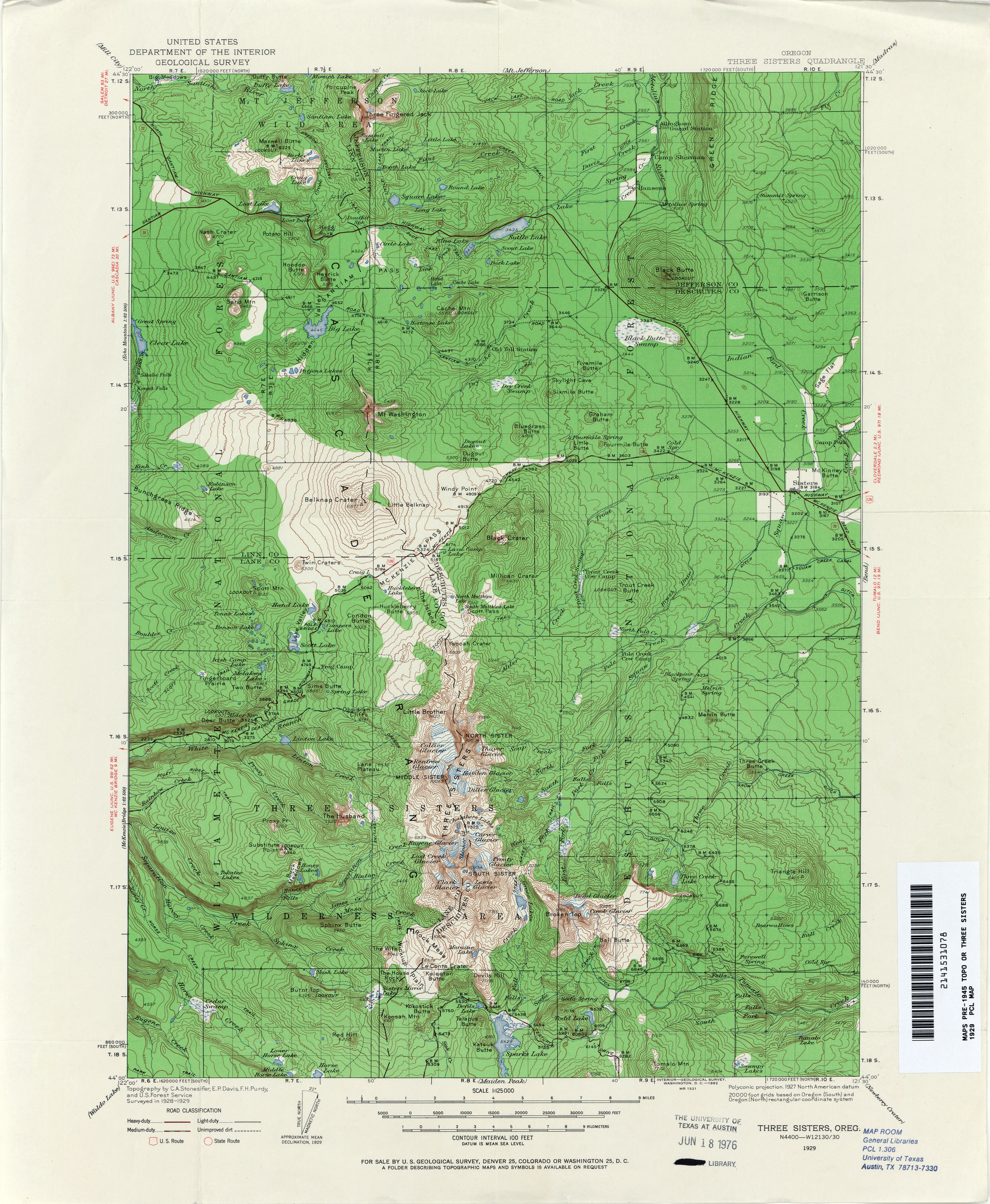 Oregon Topographic Map Oregon Historical Topographic Maps   Perry Castañeda Map  Oregon Topographic Map