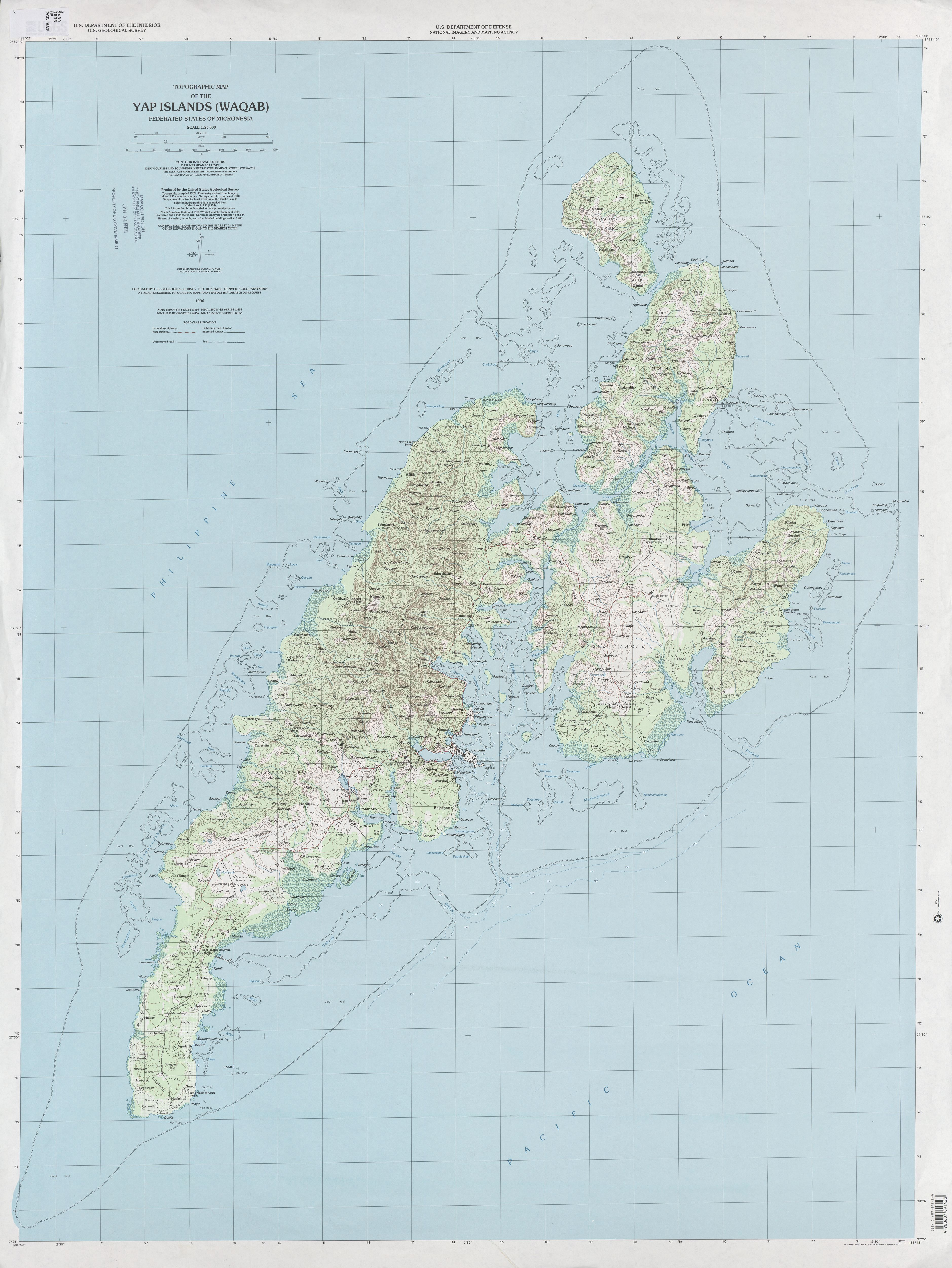 Pacific Islands Topographic Maps PerryCastañeda Map Collection - Koror city map
