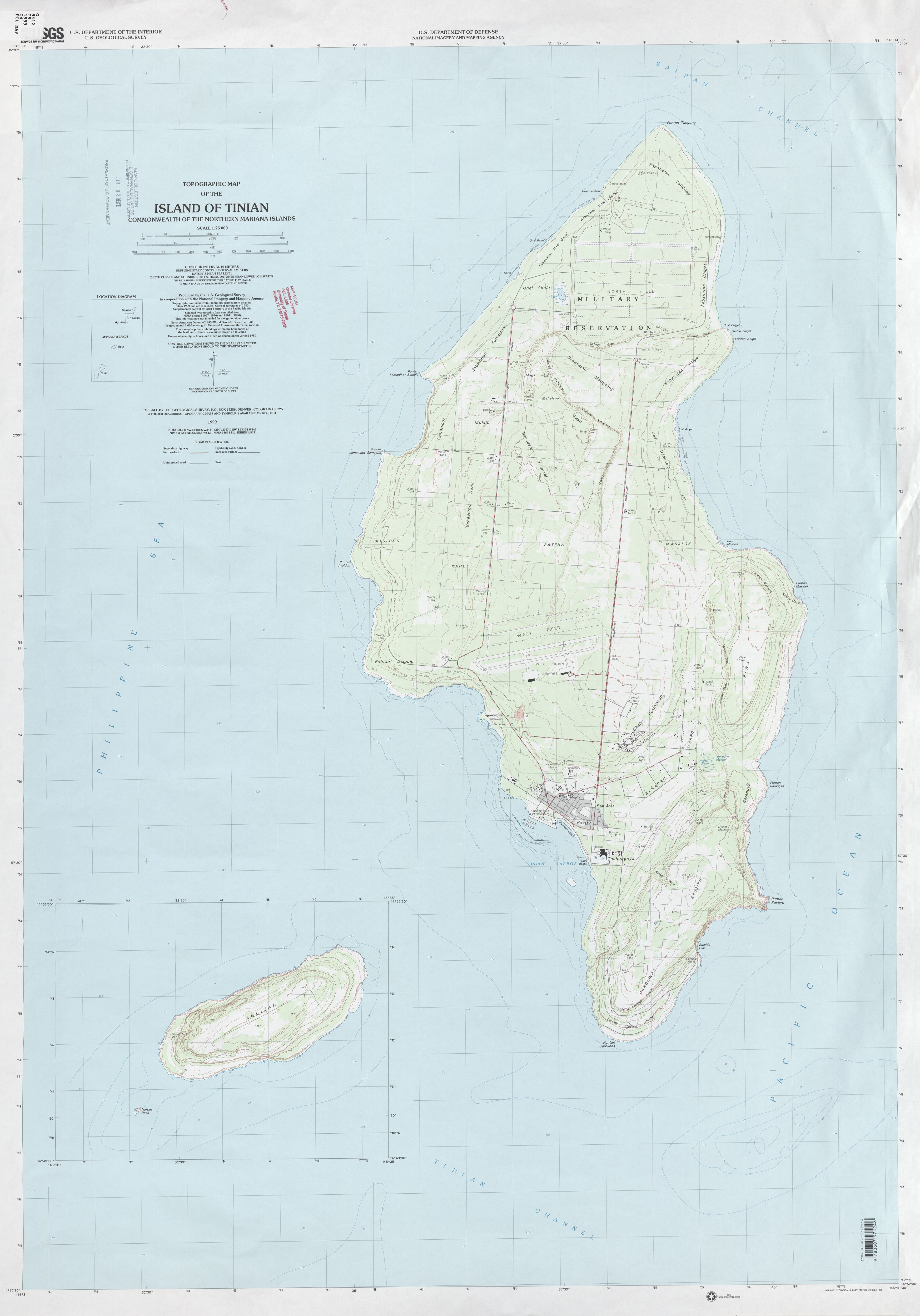 Pacific Islands Topographic Maps - Perry-Castañeda Map ...
