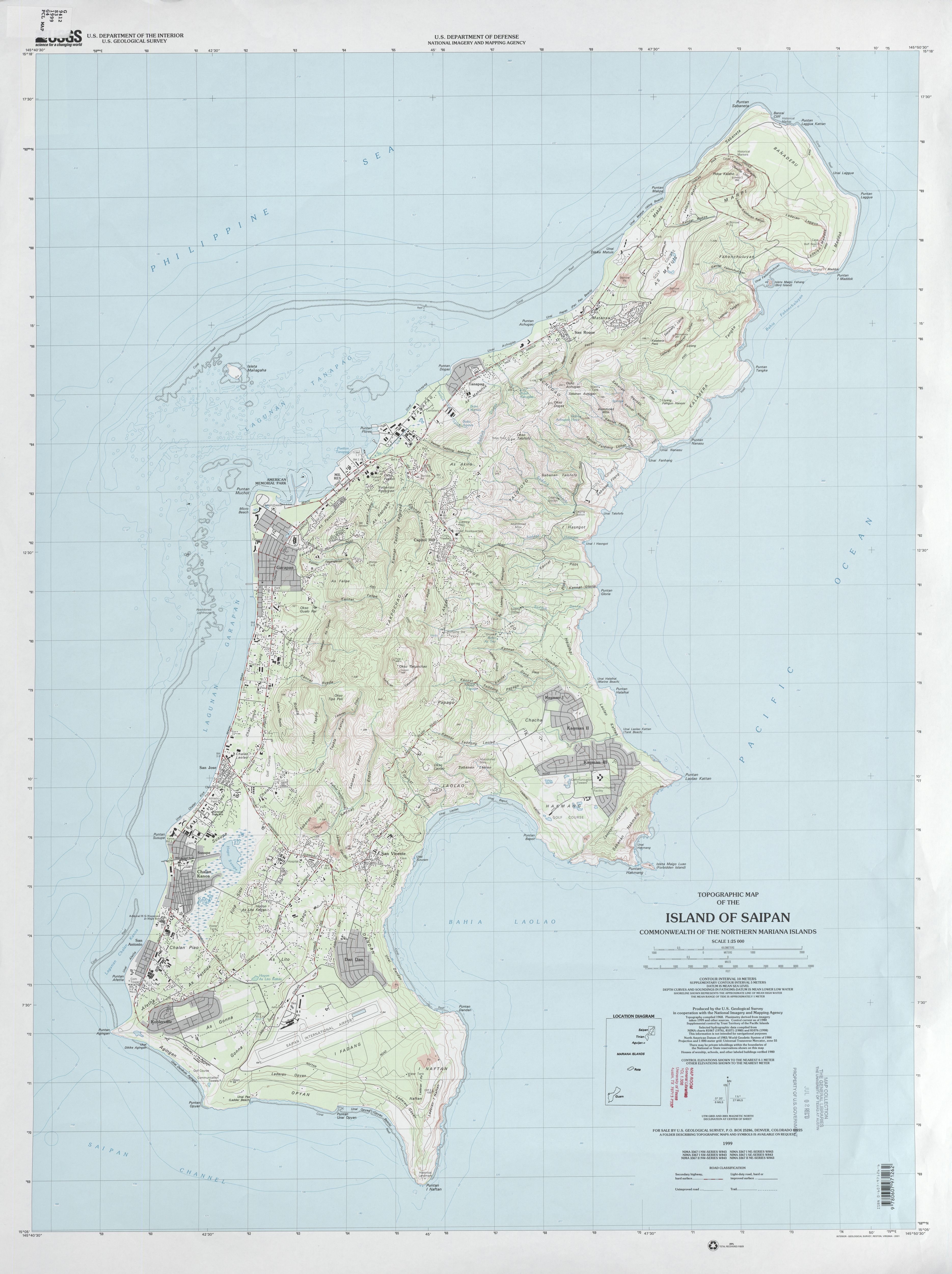 Northern Mariana Islands Maps PerryCastañeda Map Collection - Us topographic map shapefile
