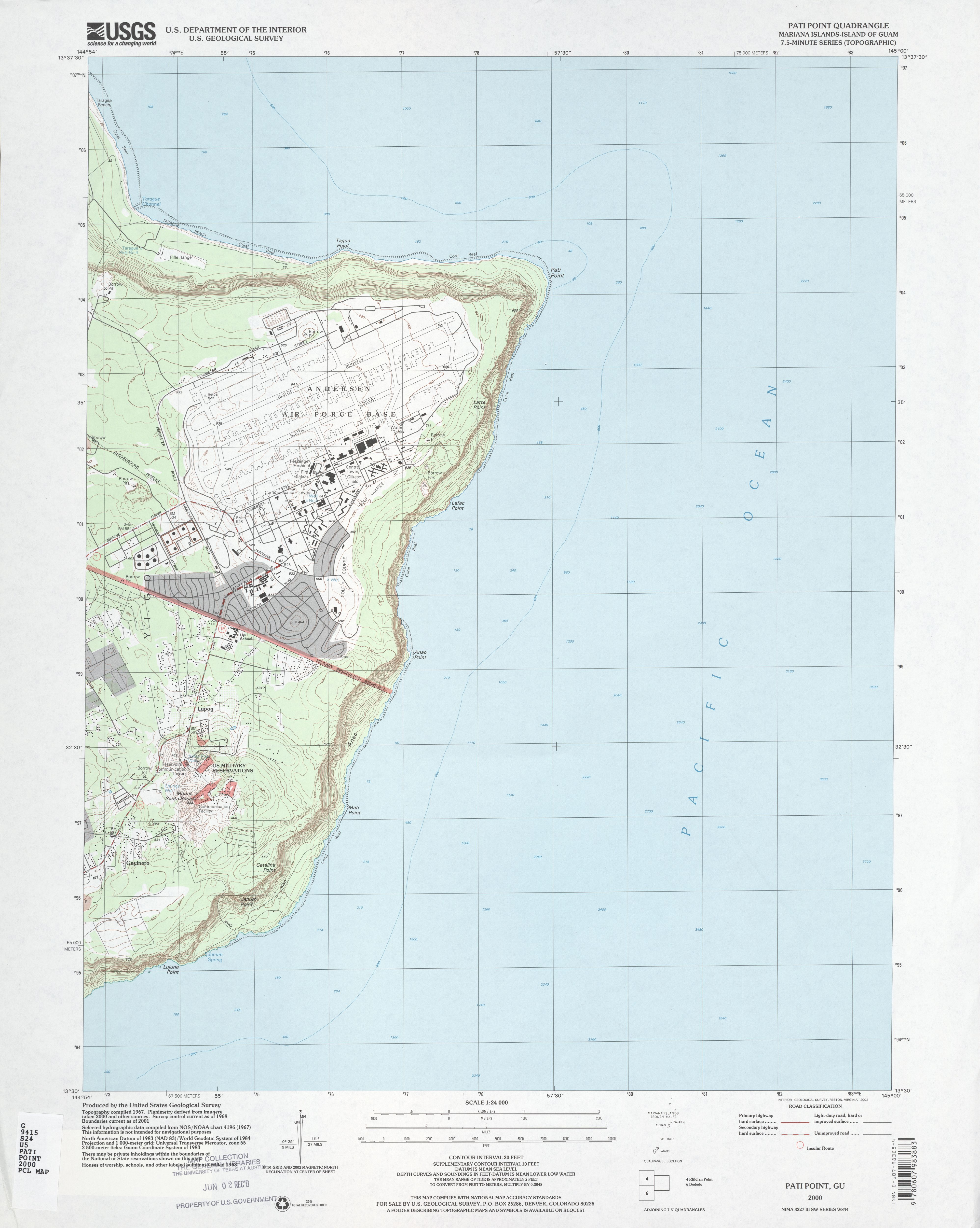 Guam maps perry castaeda map collection ut library online topographic maps gumiabroncs Choice Image