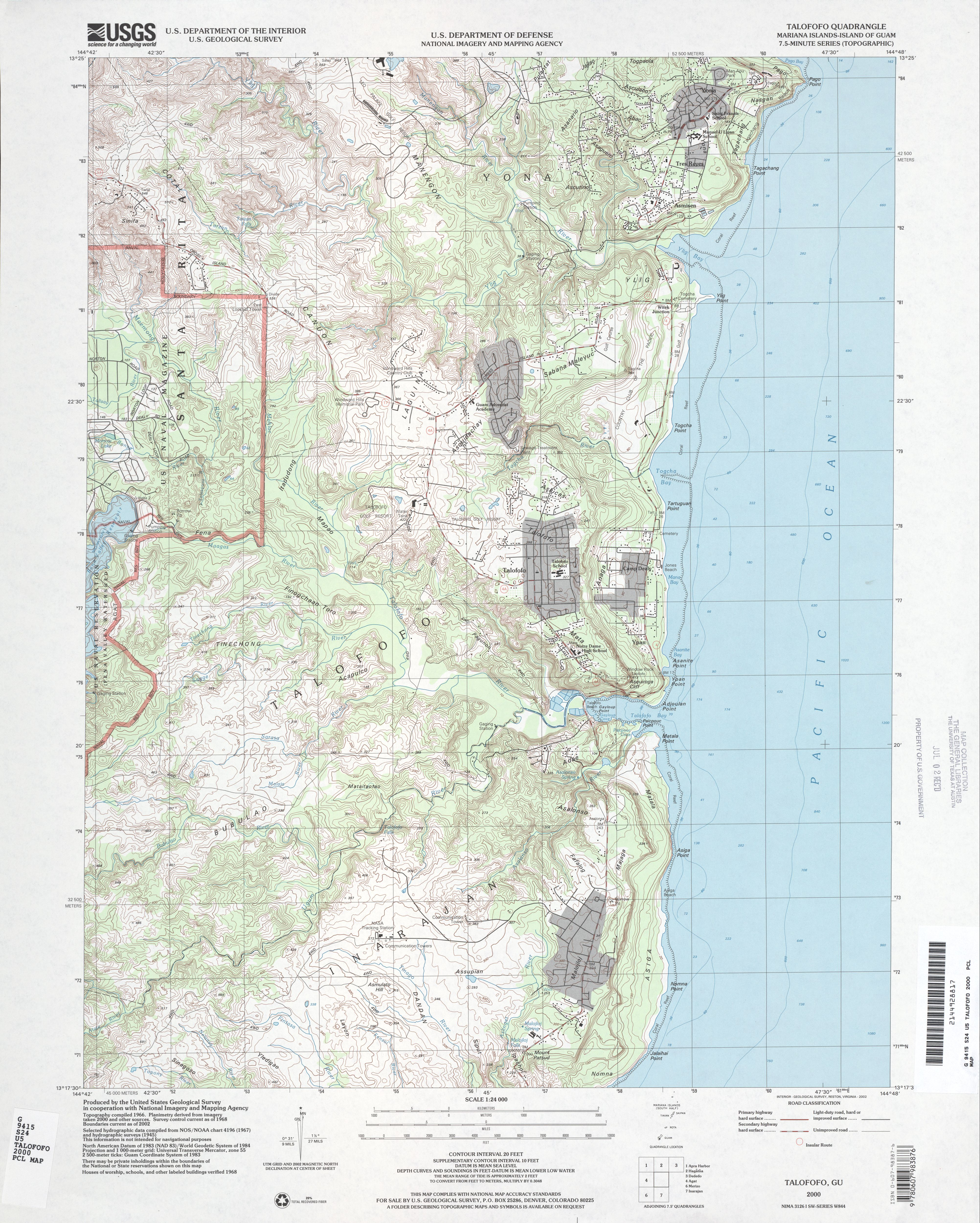 Guam Maps PerryCastañeda Map Collection UT Library Online - Us geological survey topographic maps for sale