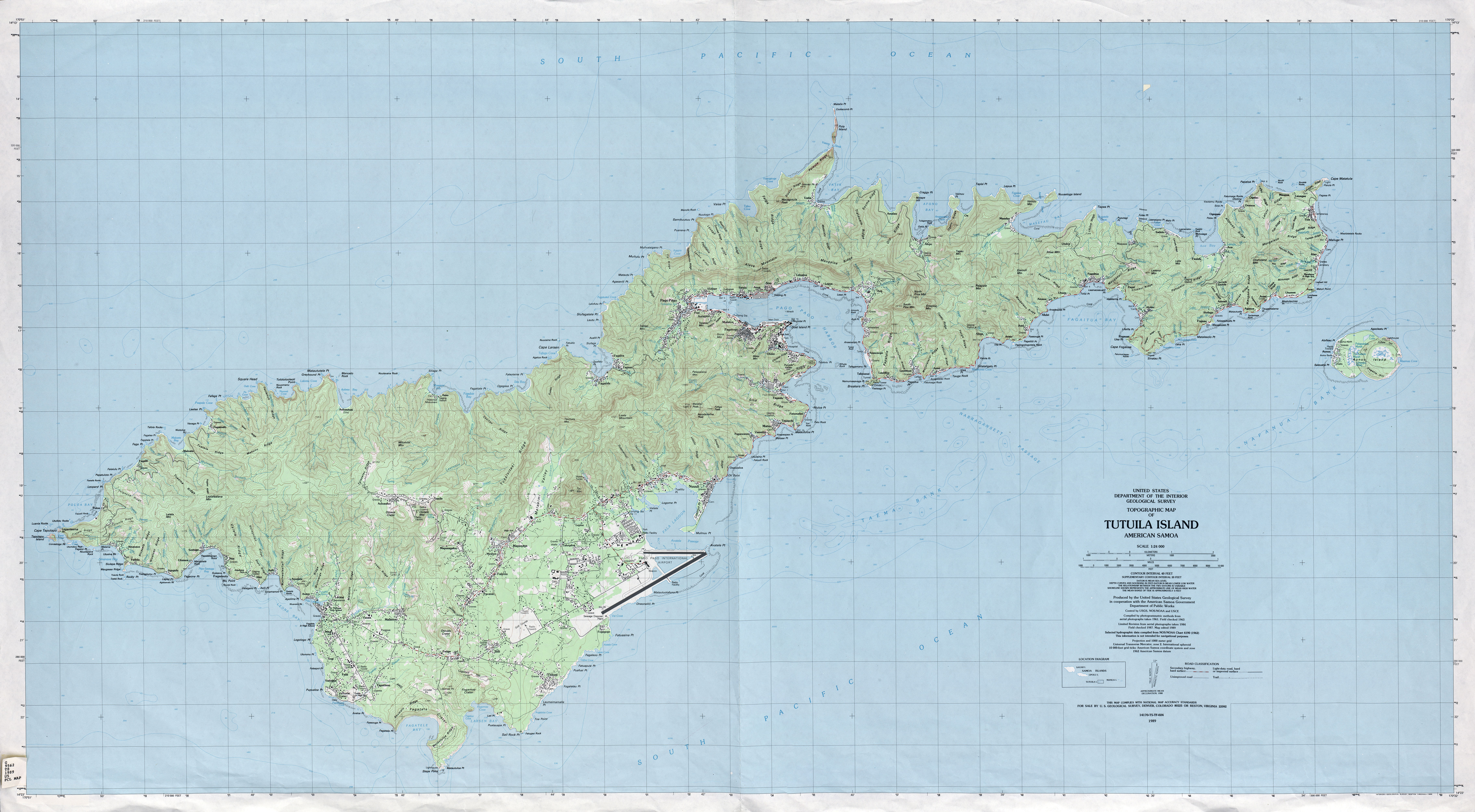 American Samoa Maps PerryCastañeda Map Collection UT Library - Topographical map eastern us