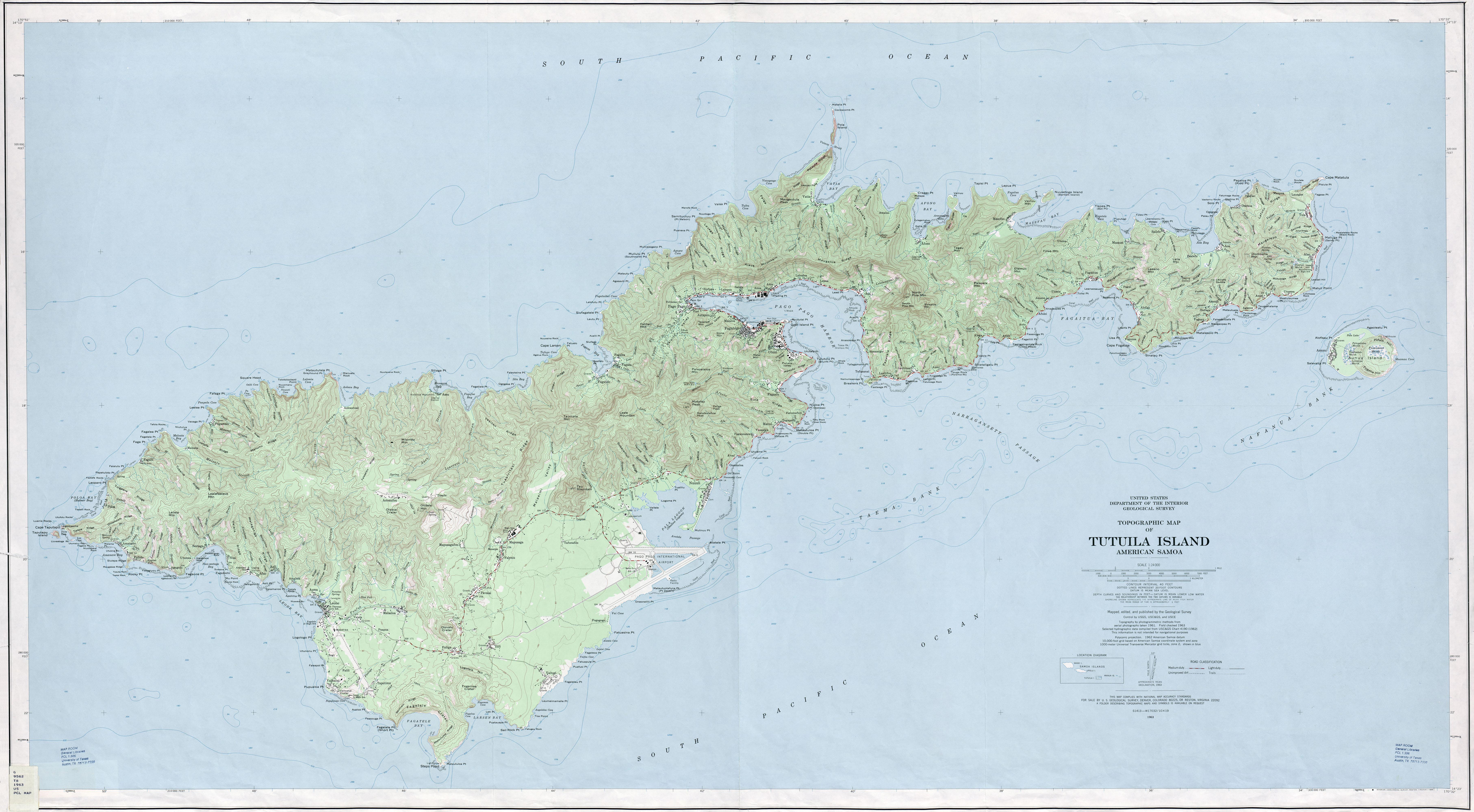 pacific islands topographic maps