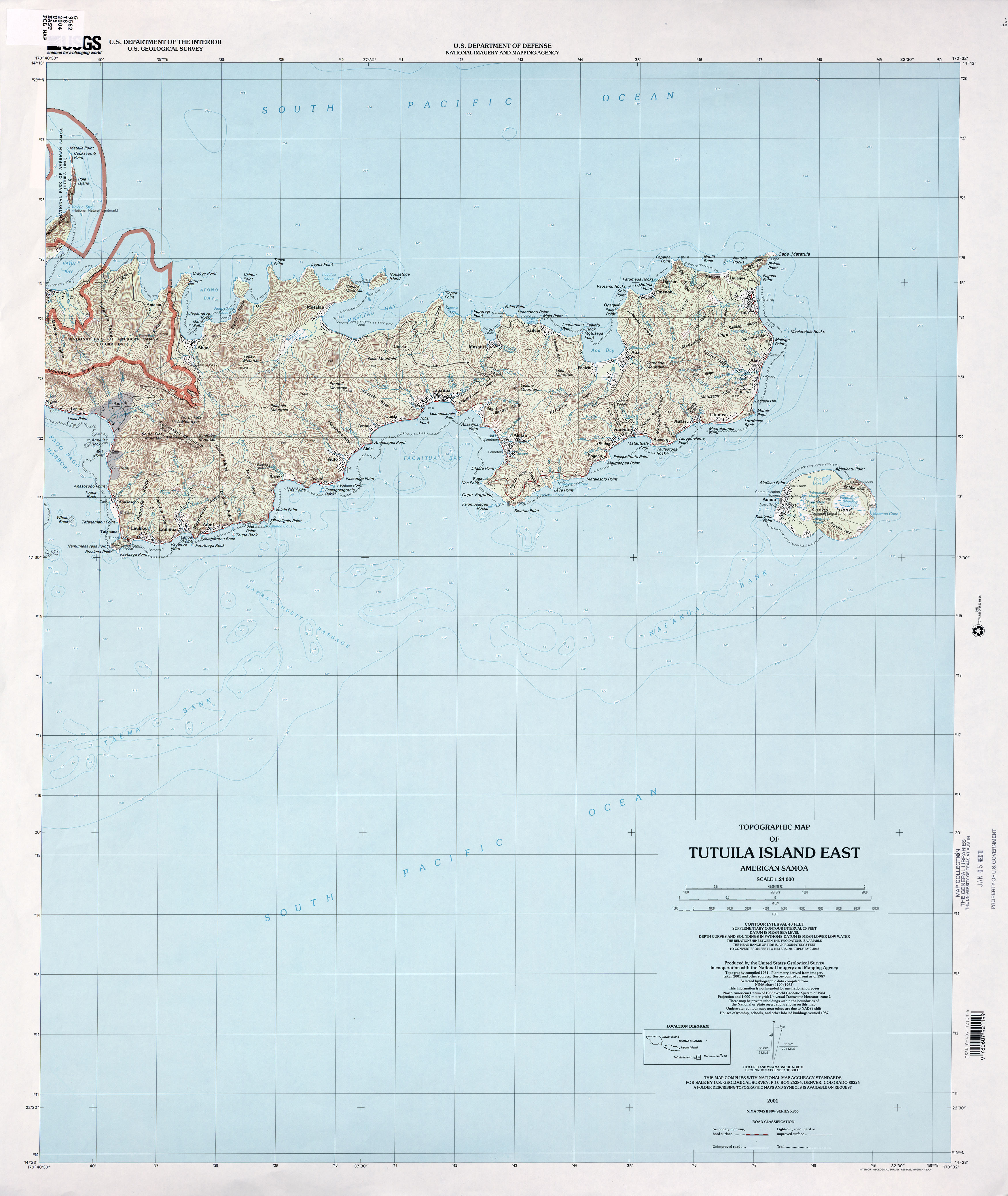 American samoa maps perry castaeda map collection ut library online map american samoa 124000 usgs 2001 25mb gumiabroncs Image collections
