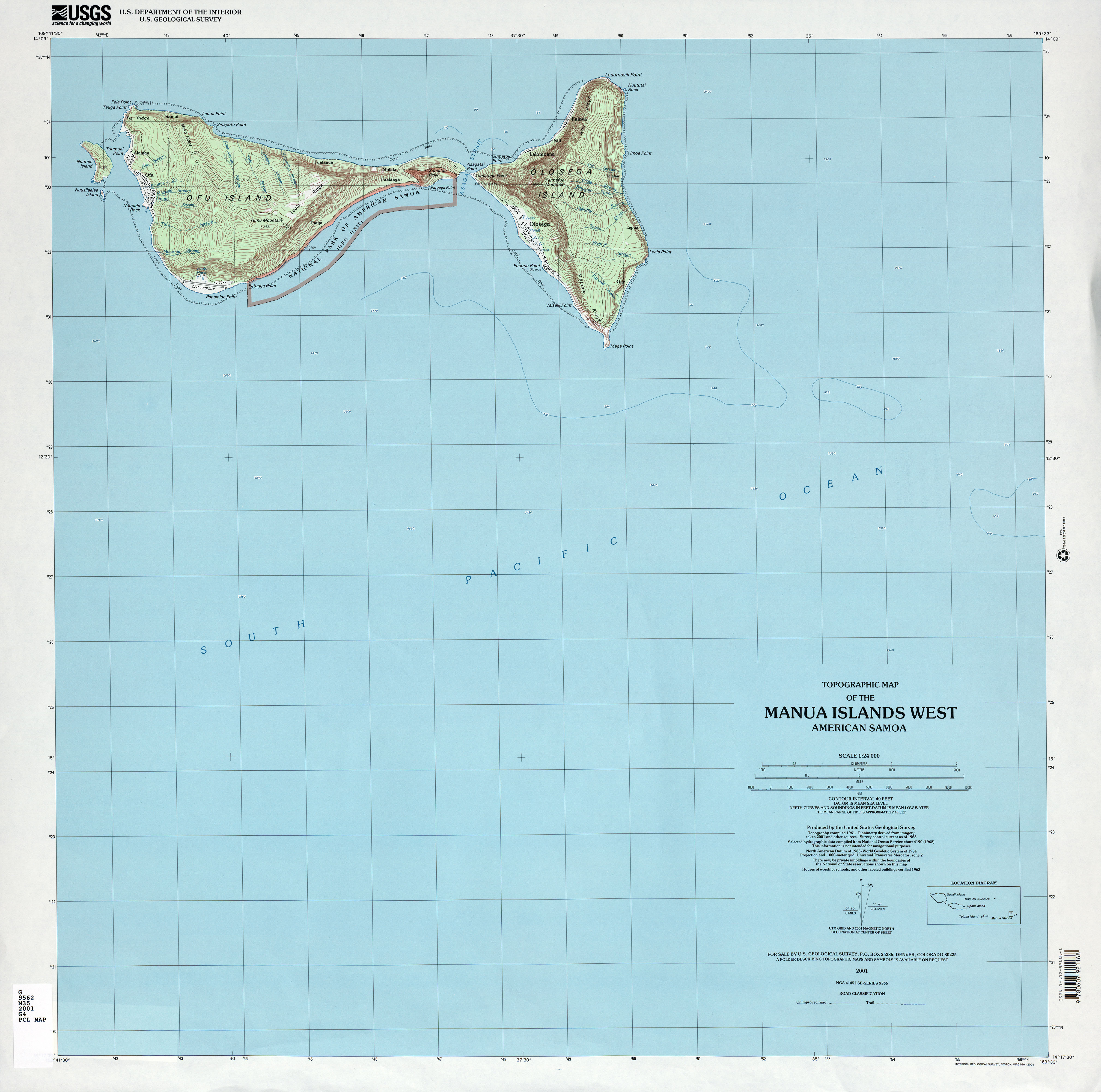 Pacific Islands Topographic Maps PerryCastañeda Map Collection - Us geological survey topographic maps for sale