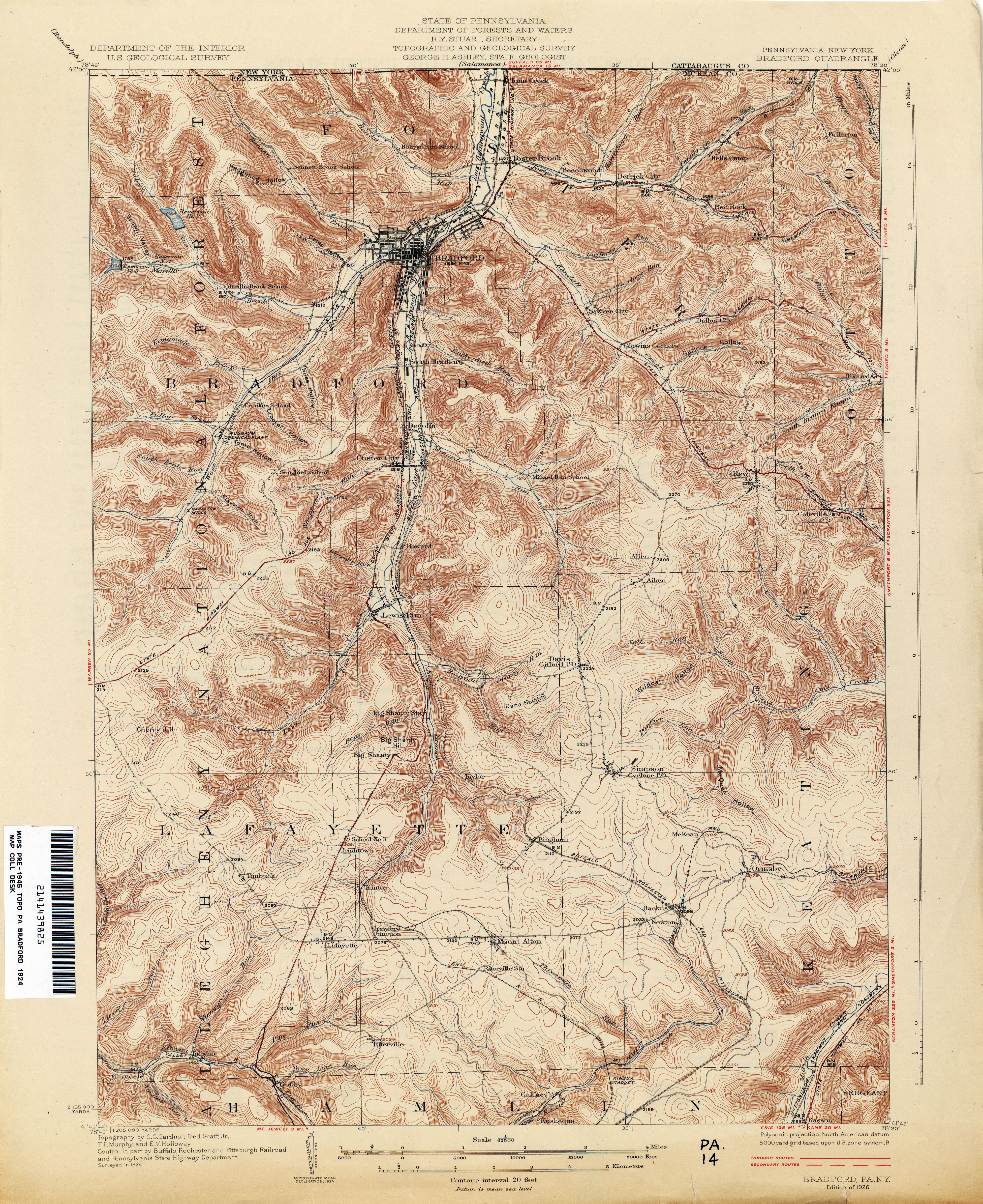 Pennsylvania Historical Topographic Maps Perry Castaneda Map