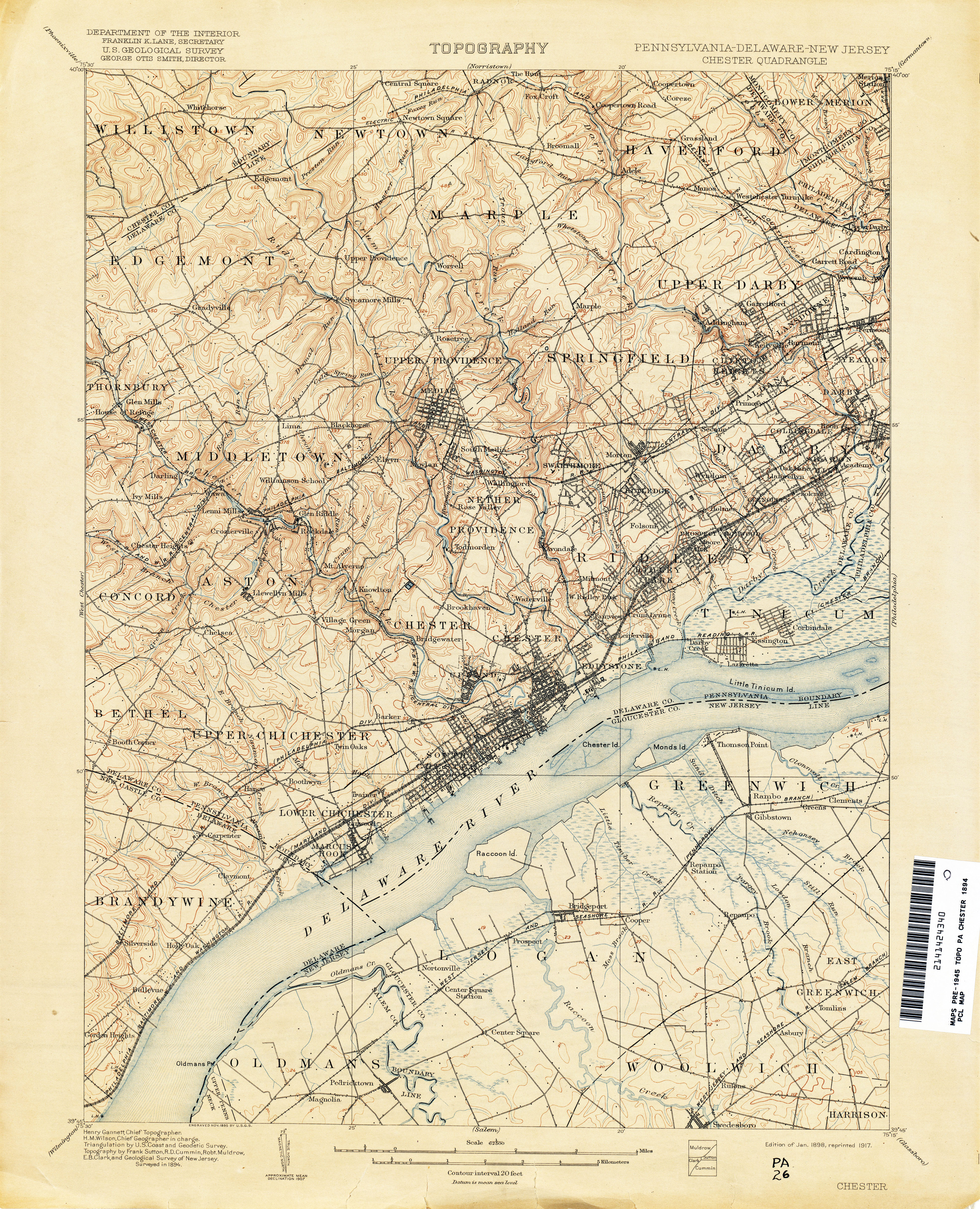 New Jersey Topographic Maps PerryCastañeda Map Collection UT - Topographical map of pa