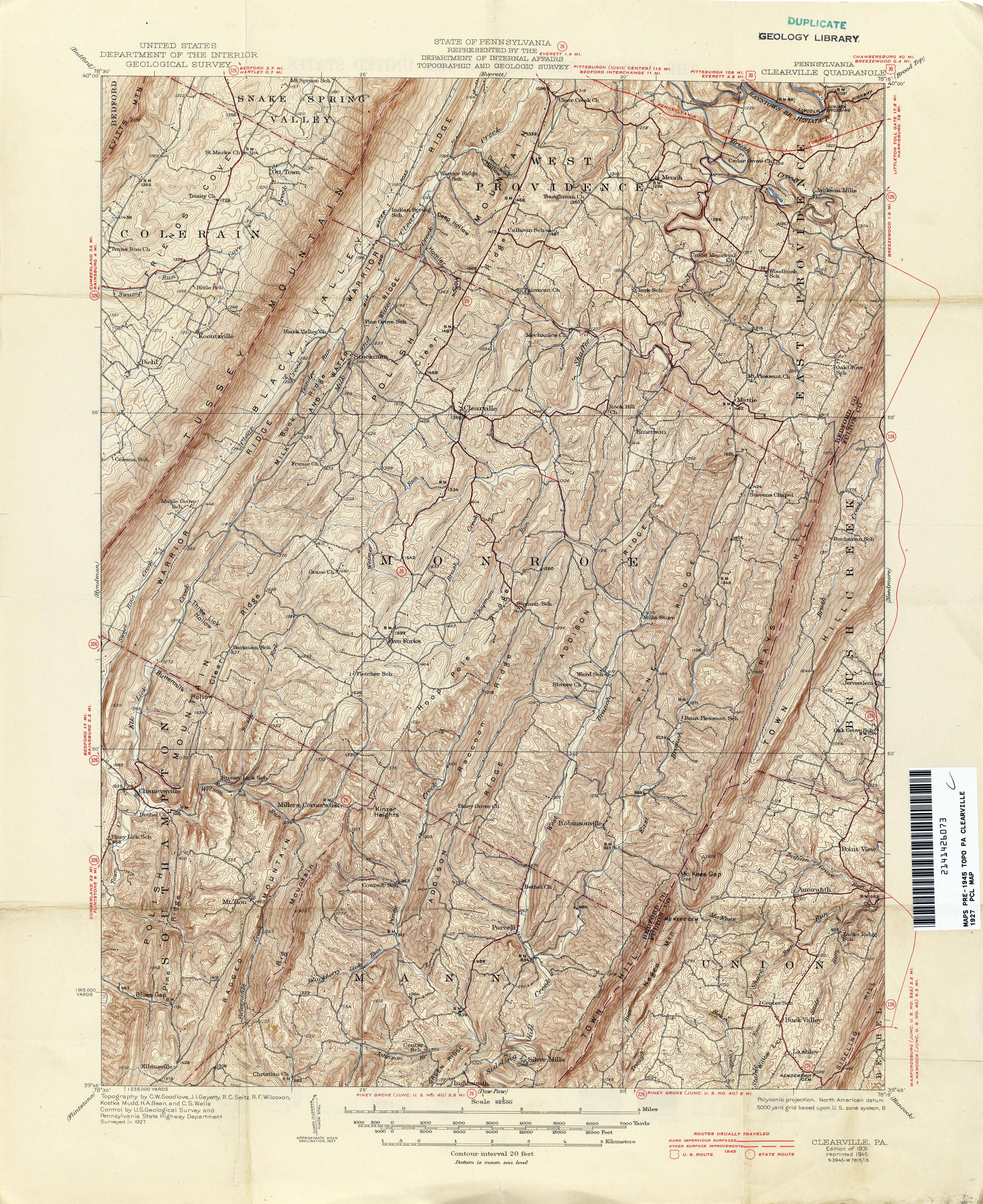 Pennsylvania Historical Topographic Maps PerryCastañeda Map - Us map pa