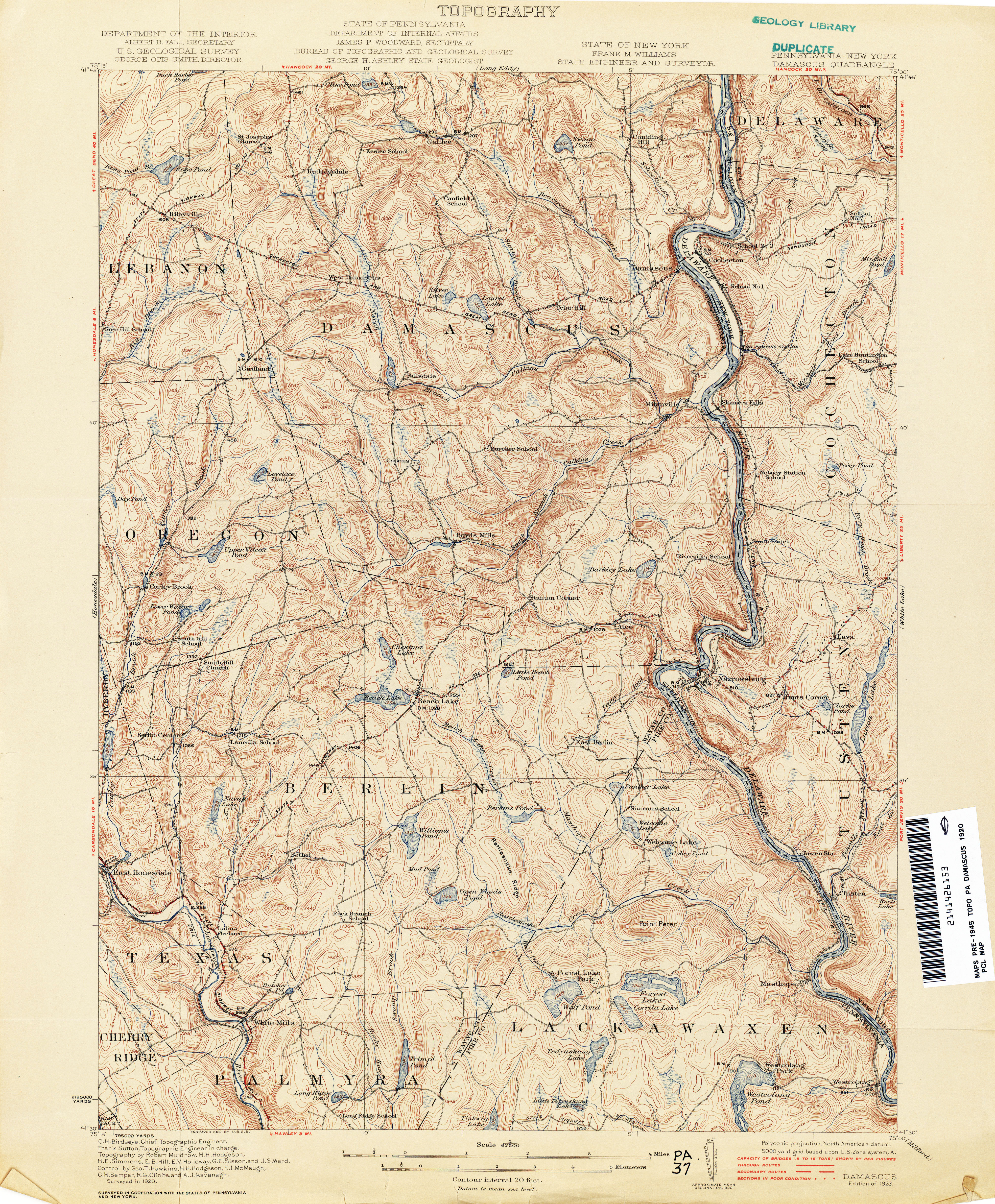 New York Topographic Maps PerryCastañeda Map Collection UT - Topographical map of pa