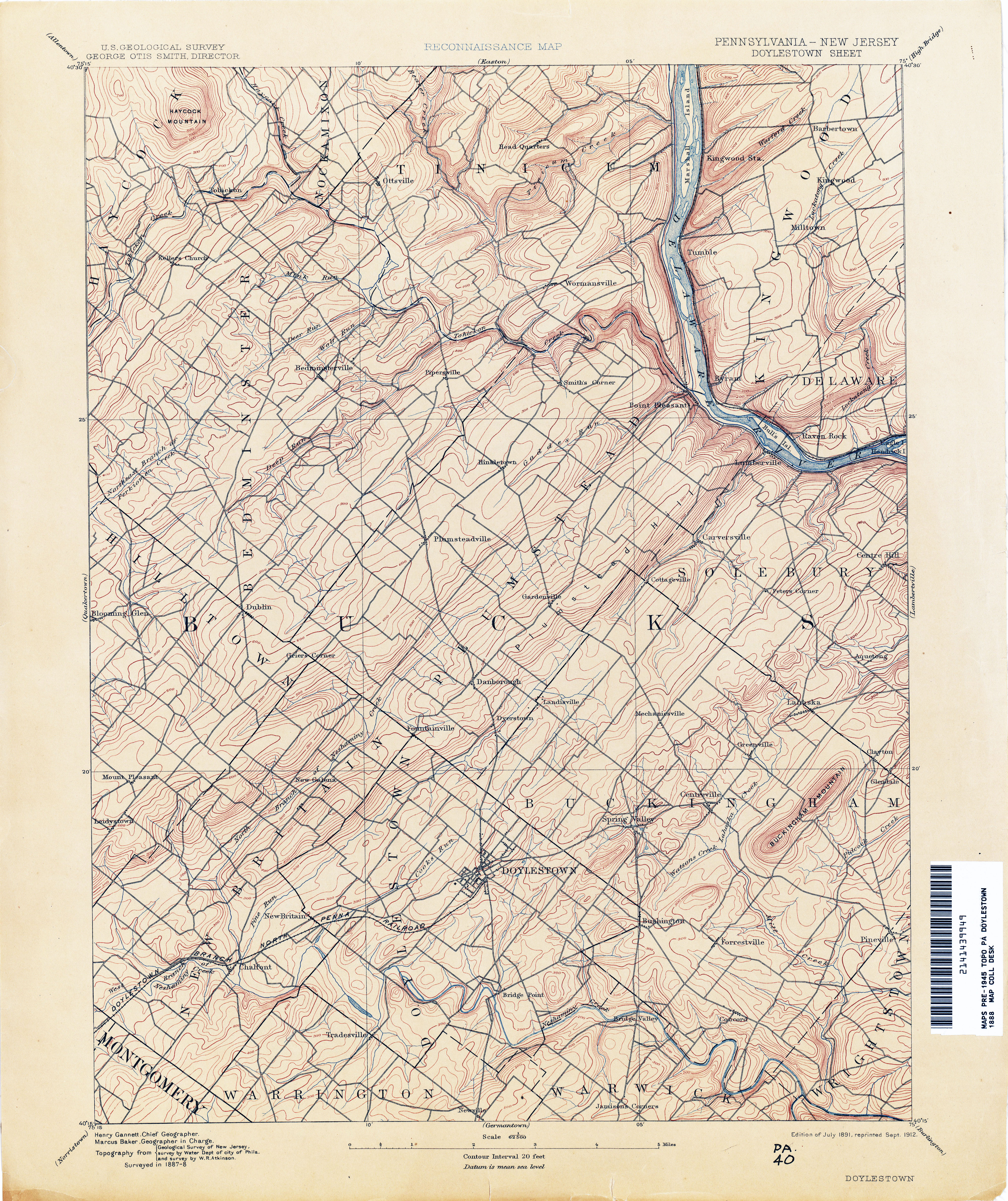 Book on CD 1888 Atlas and Geological Survey of New Jersey NJ Maps