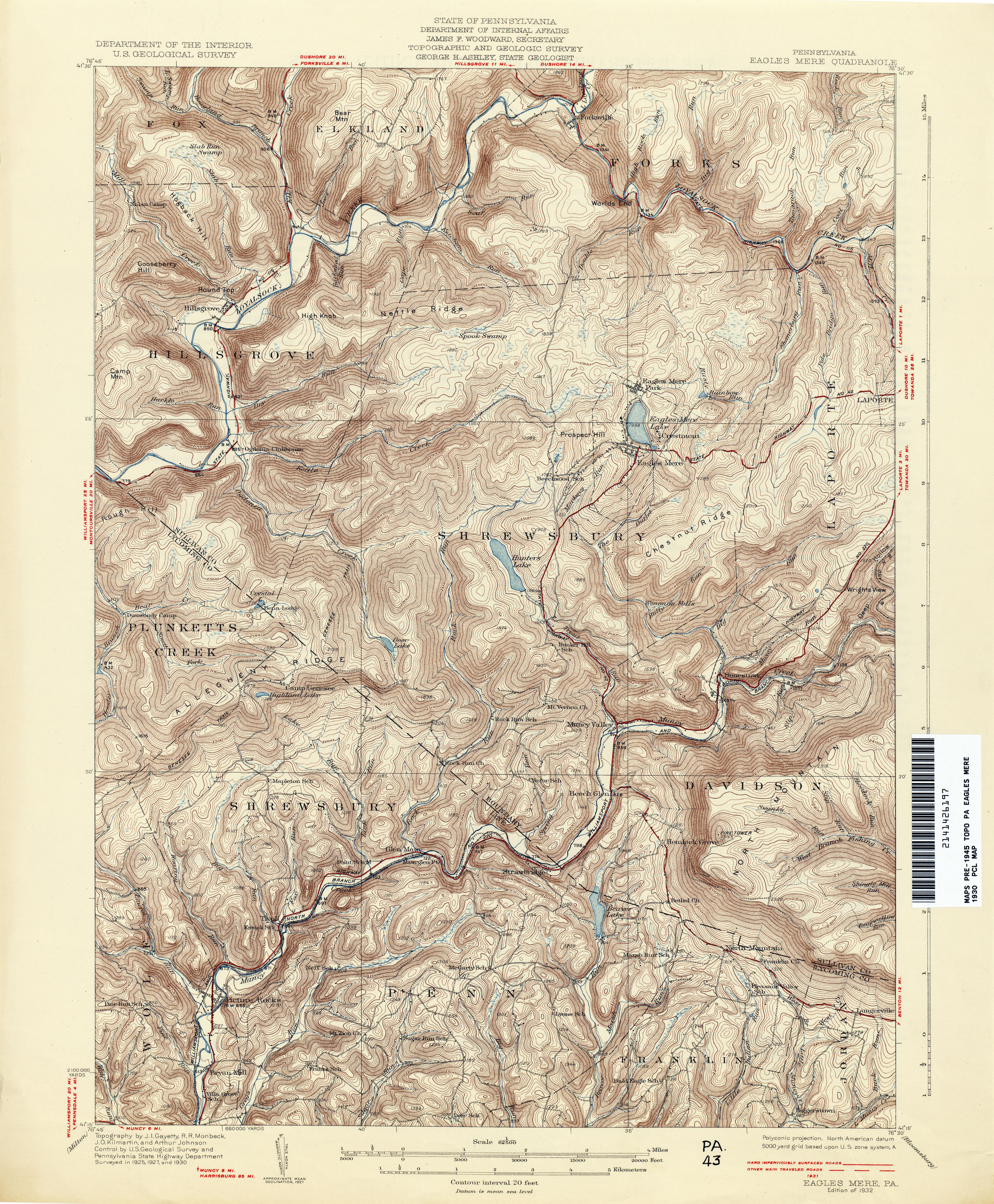 Pennsylvania Historical Topographic Maps Perry Castaneda Map