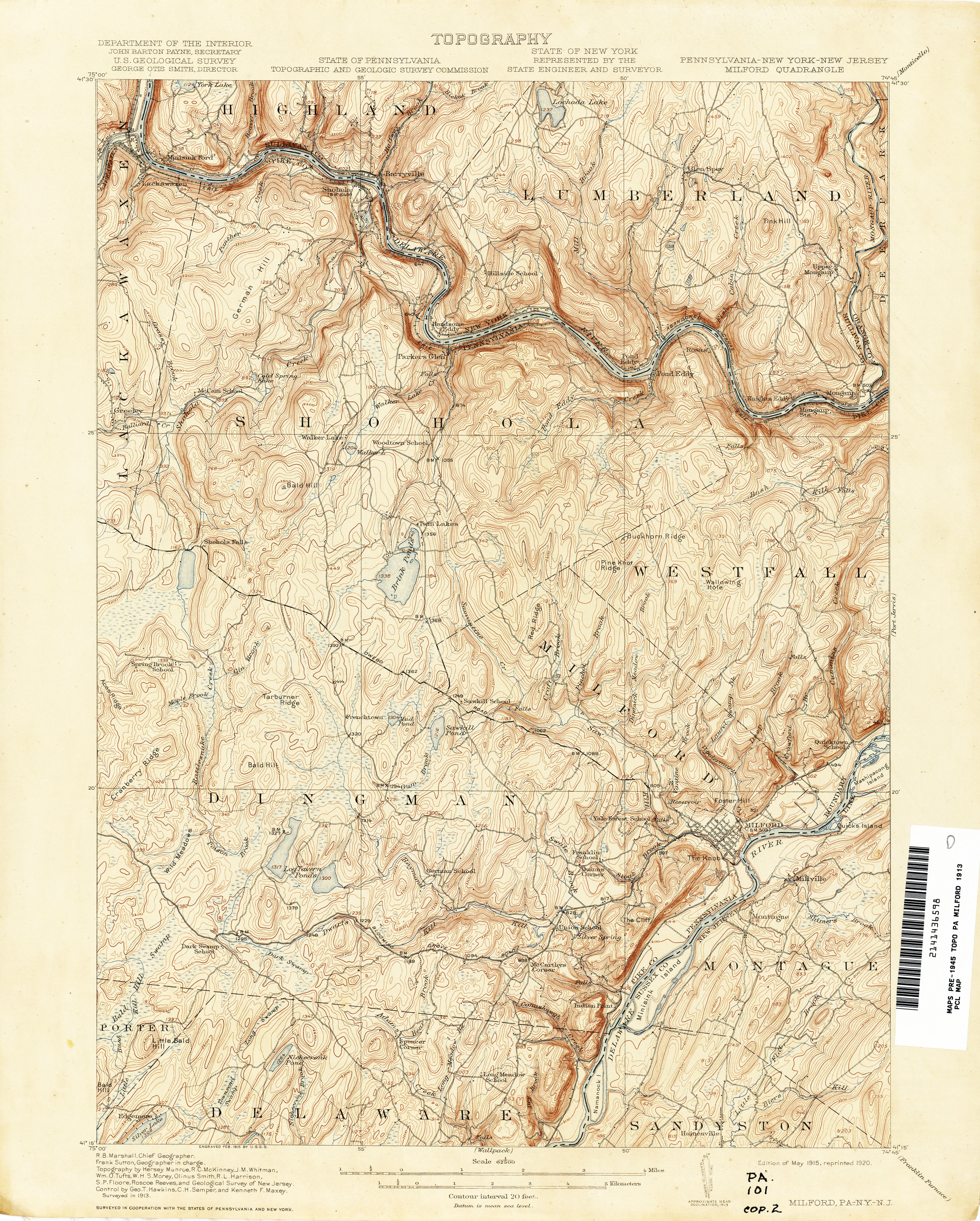 new jersey topographic maps