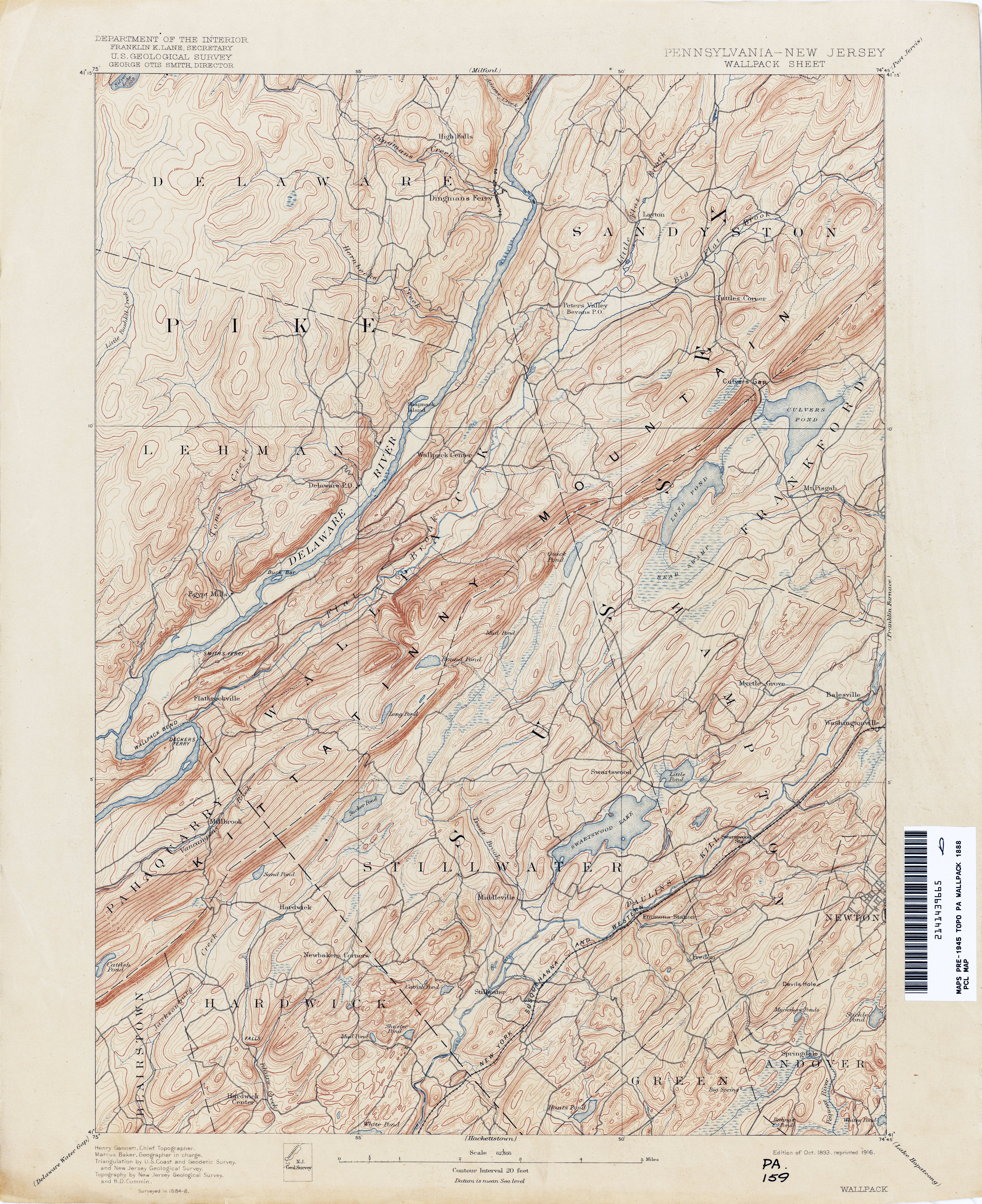 New Jersey Topographic Maps - Perry-Castañeda Map Collection - UT