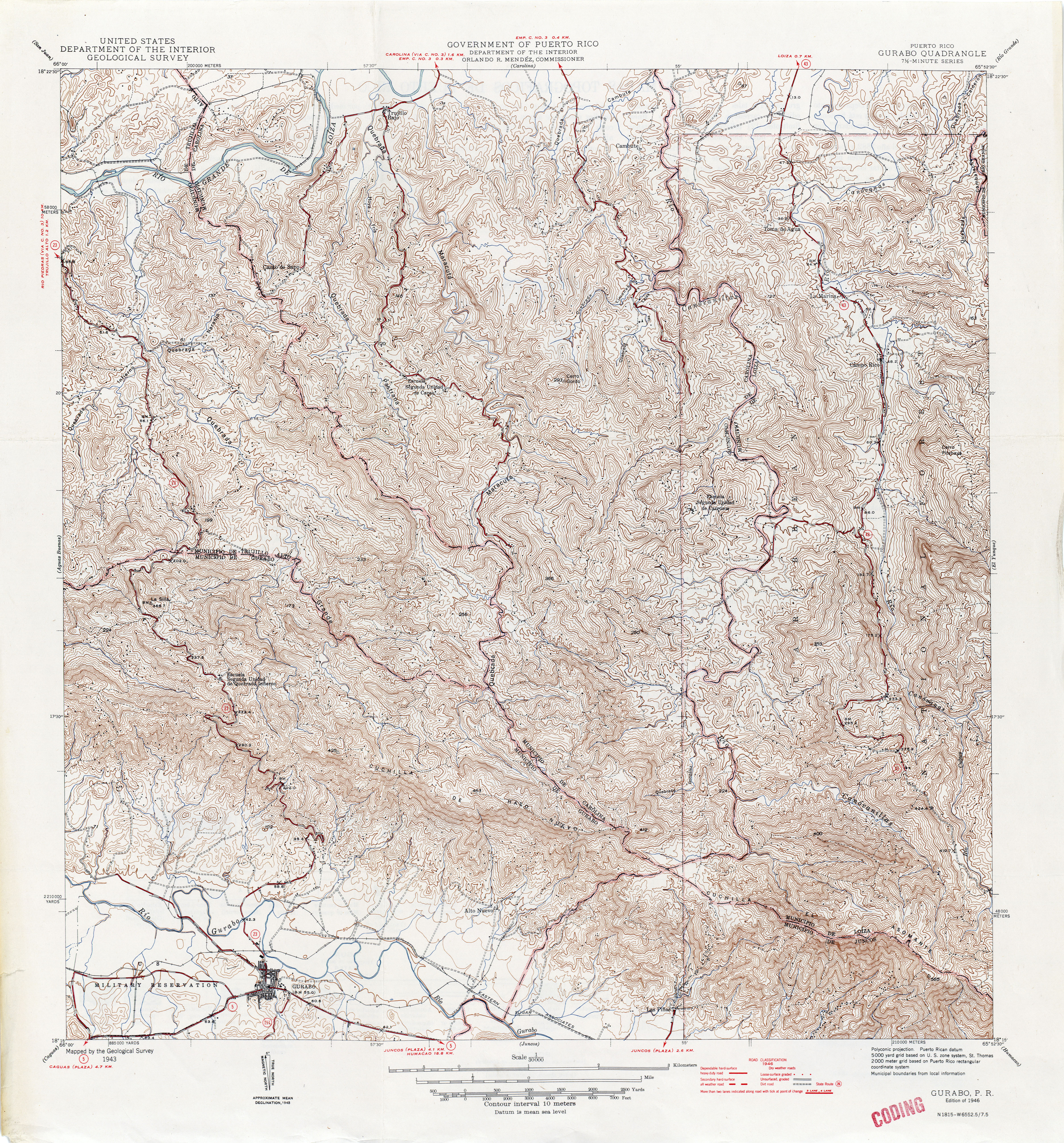 Puerto Rico Historical Topographic Maps PerryCastaeda Map