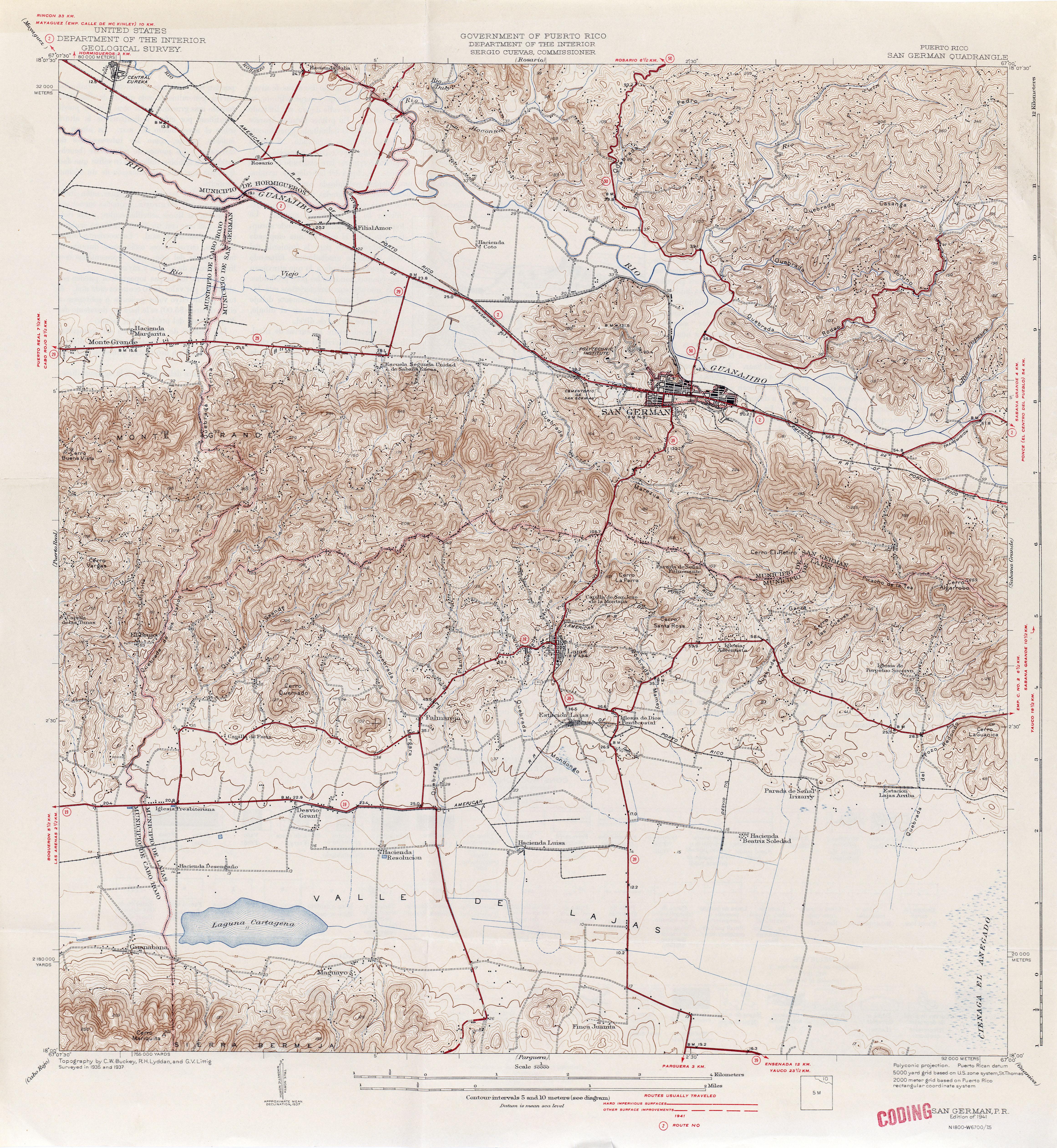 Puerto Rico Historical Topographic Maps PerryCastañeda Map - Maps puerto rico