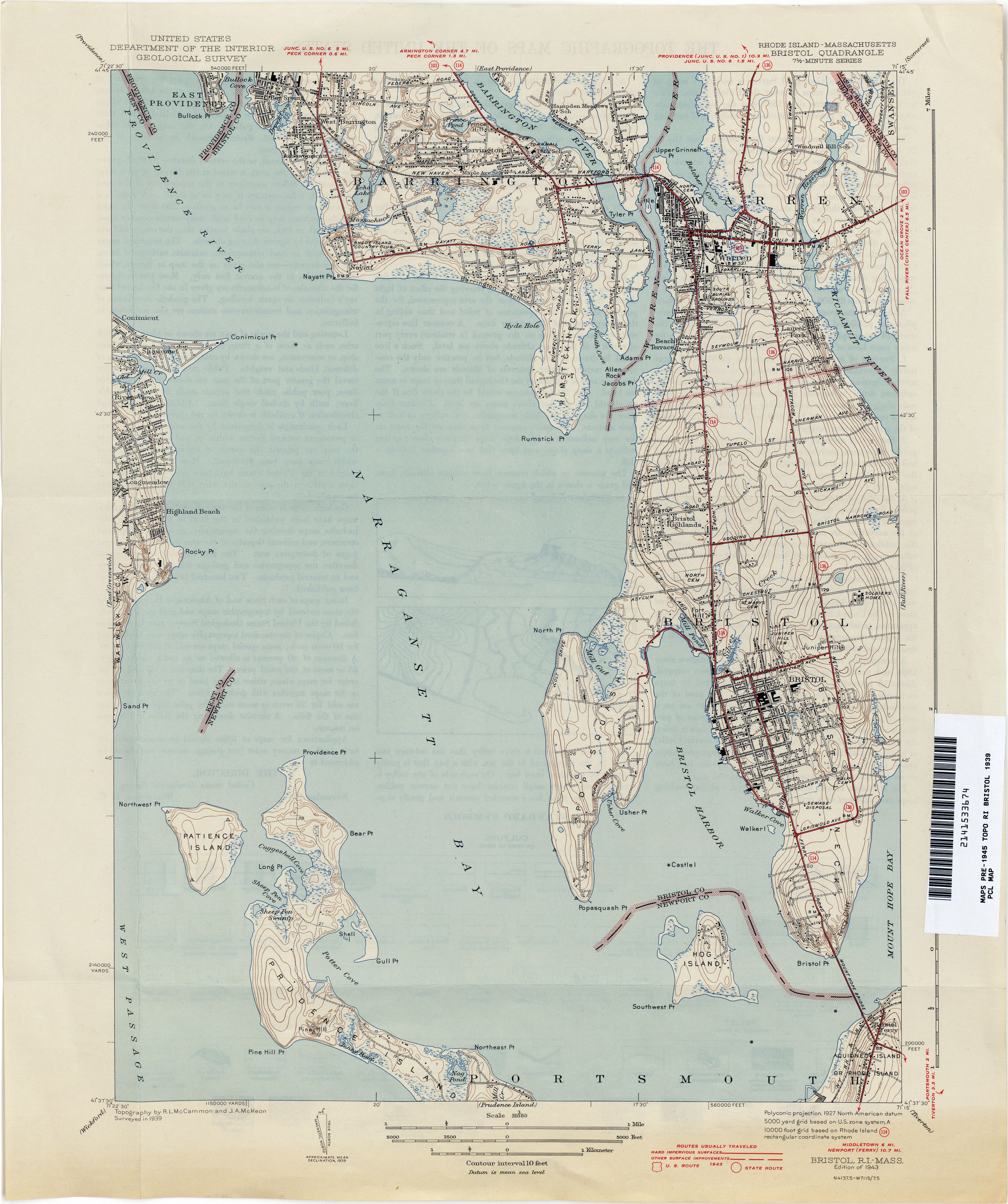 Rhode Island Historical Topographic Maps - Perry-Castañeda Map ...
